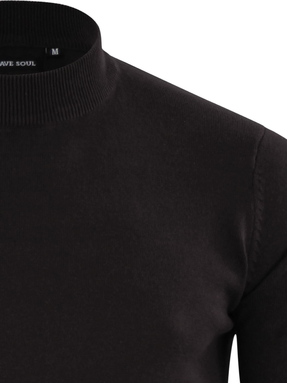 Mens-Jumper-Brave-Soul-Turtle-Neck-Cotton-Pull-Over-Sweater thumbnail 7