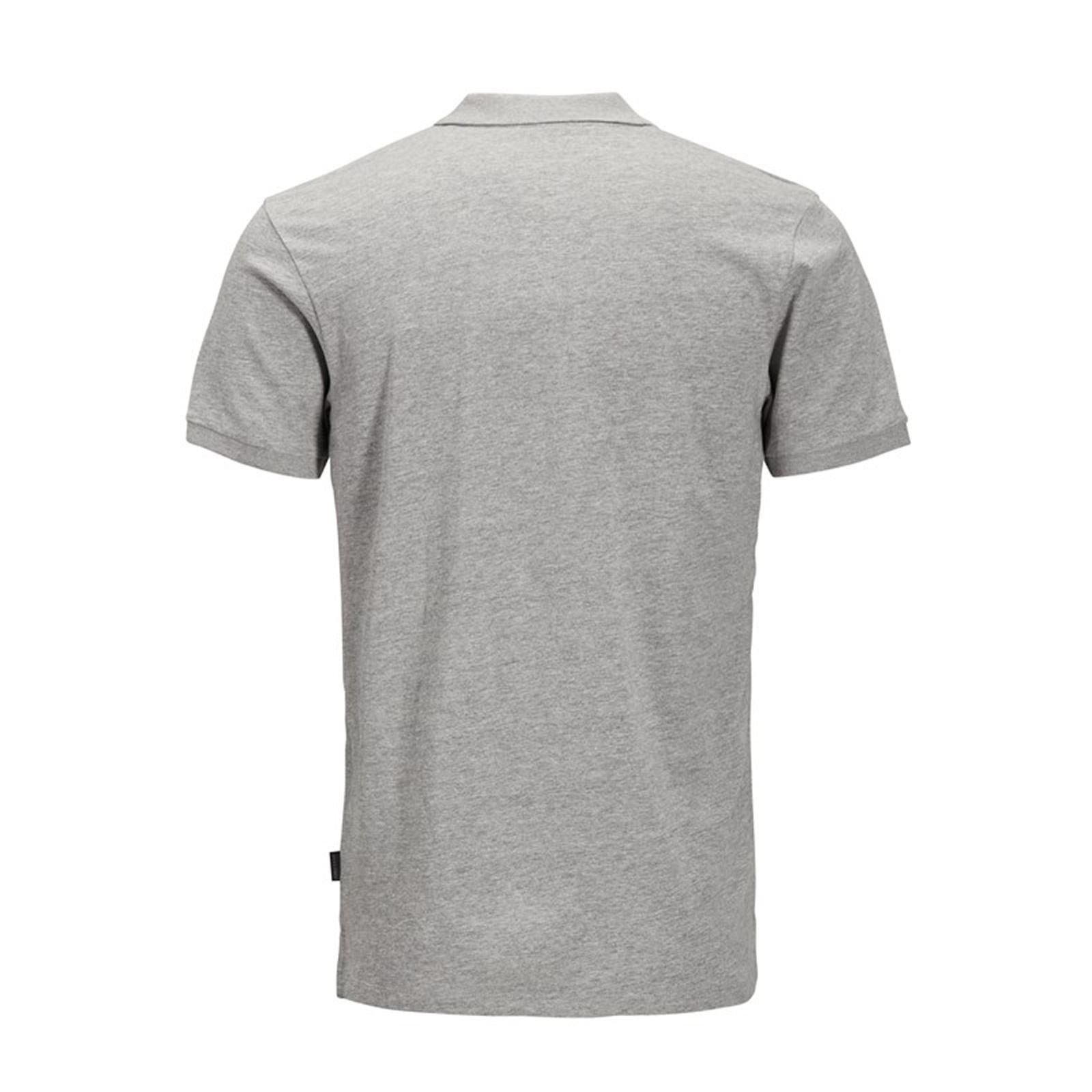 Jack-amp-Jones-Jet-Homme-Polo-T-Shirt-Jersey-Manches-Courtes-Col-Haut-Decontracte miniature 3