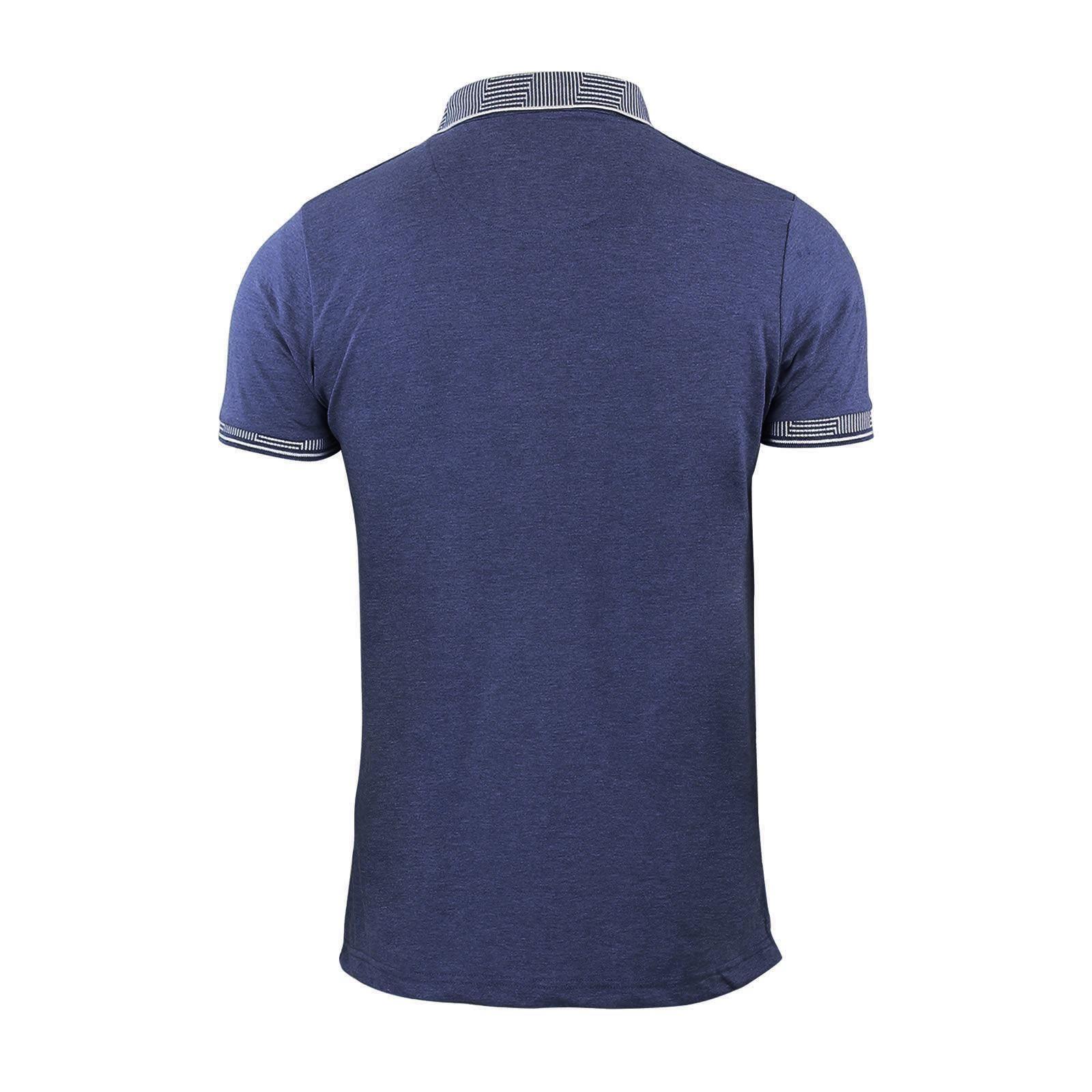Polo-pour-Homme-T-Shirt-Brave-Soul-Glover-Coton-Avec-Col-Haut-Decontracte-Manche-Courte miniature 15