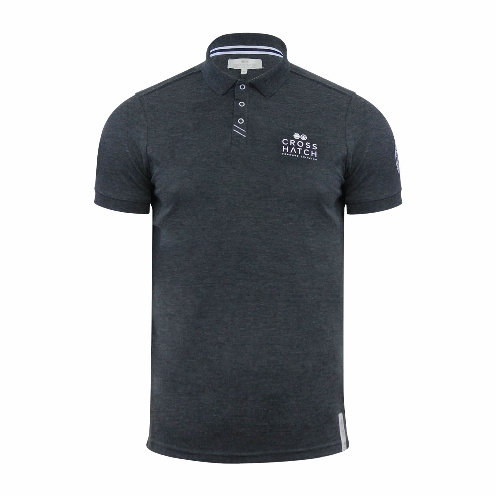 Crosshatch-Mens-Polo-T-Shirt-Pique-Polo-Cotton-Collared-Short-Sleeve-T-Shirt thumbnail 66
