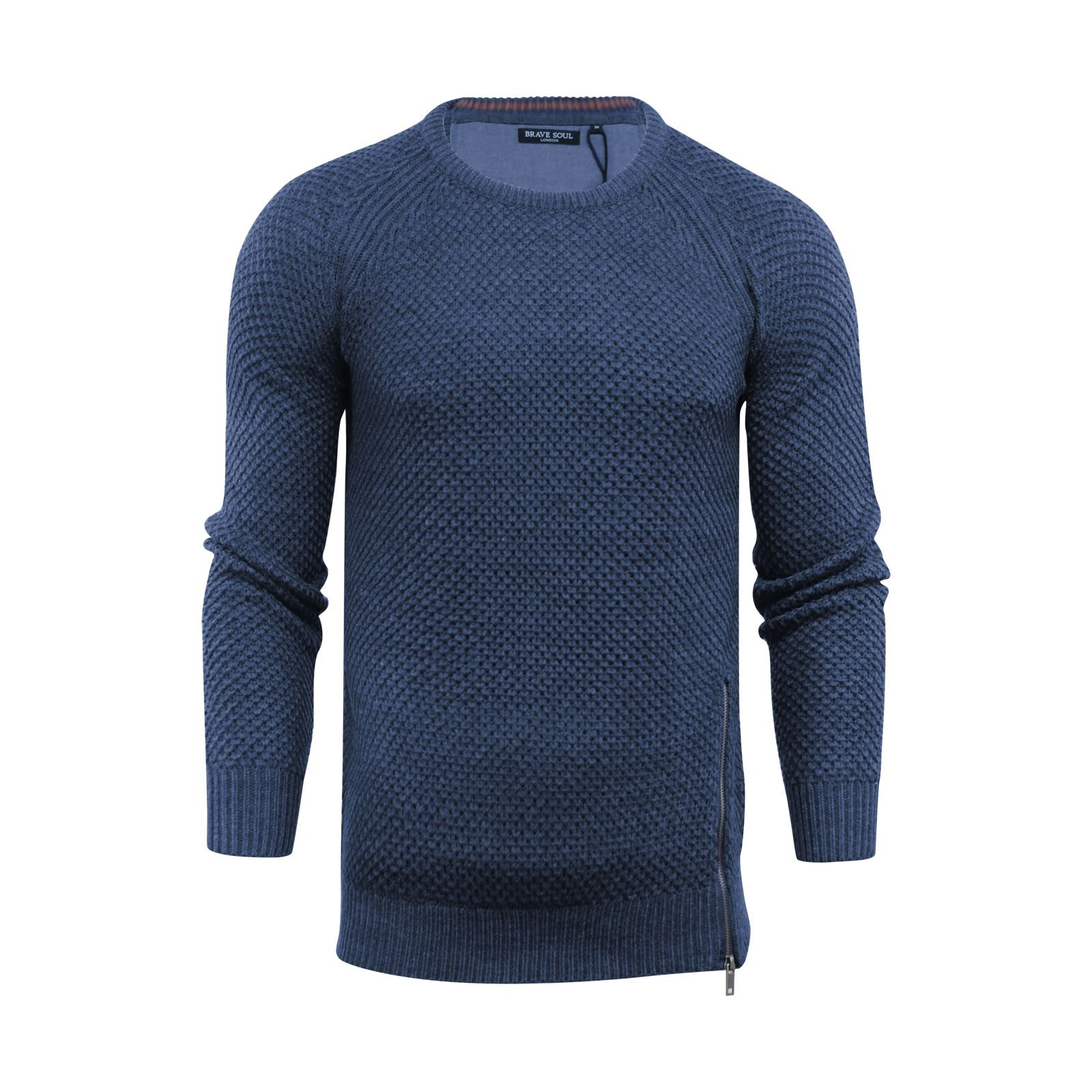 Mens-Jumper-Brave-Soul-Knitted-Sweater-In-Various-Styles thumbnail 123