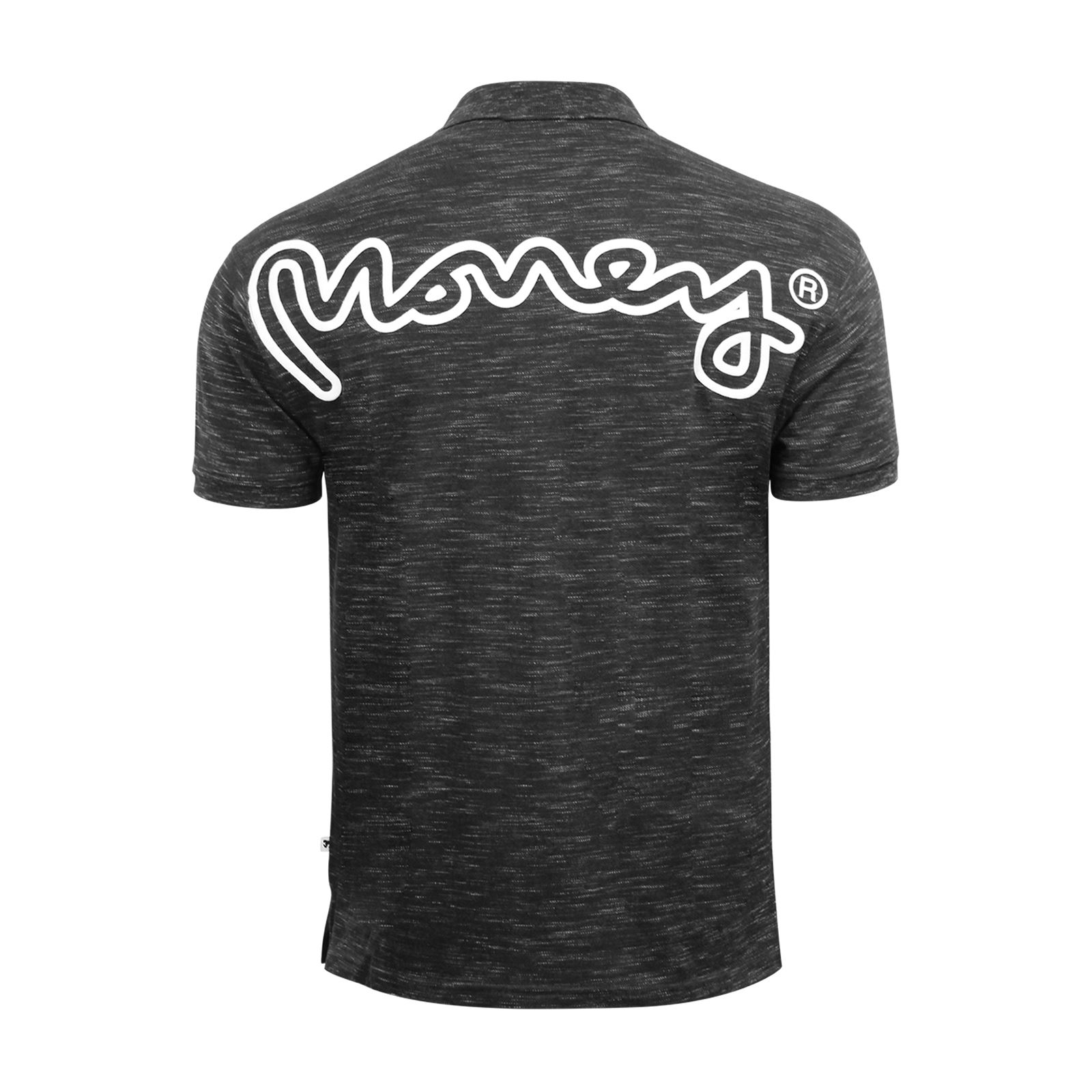 Mens-Polo-T-SHIRT-MONEY-toke-Rear-Printed-Short-Manche-Grindle-Collar-Casual-Top miniature 7