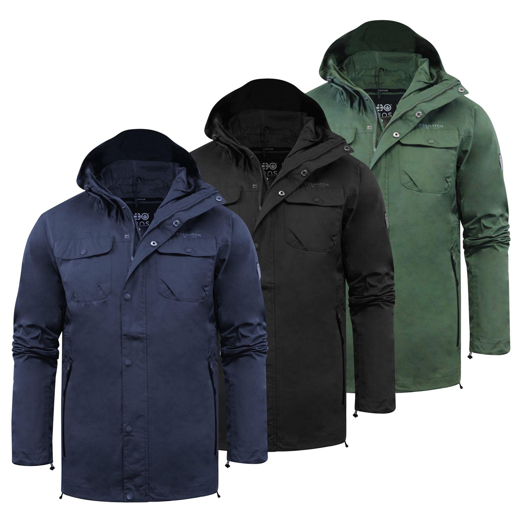 Crosshatch Mens Windbreaker Jackets Lightweight Zip Up Hooded Coats