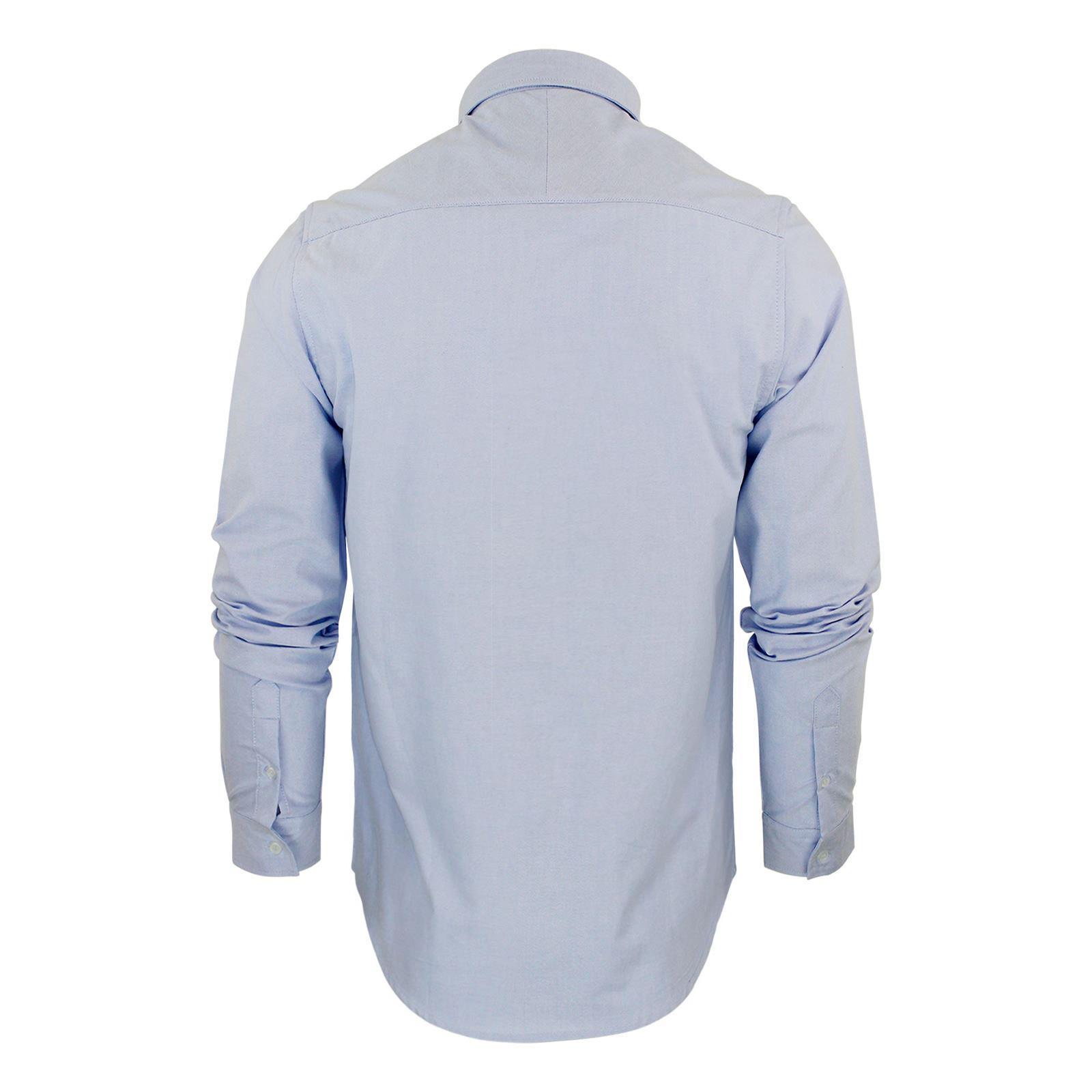 Brave-Soul-Pompei-Chemise-Homme-a-Manches-Longues-Oxford-Coton-A-Col-Haut-Decontracte miniature 7