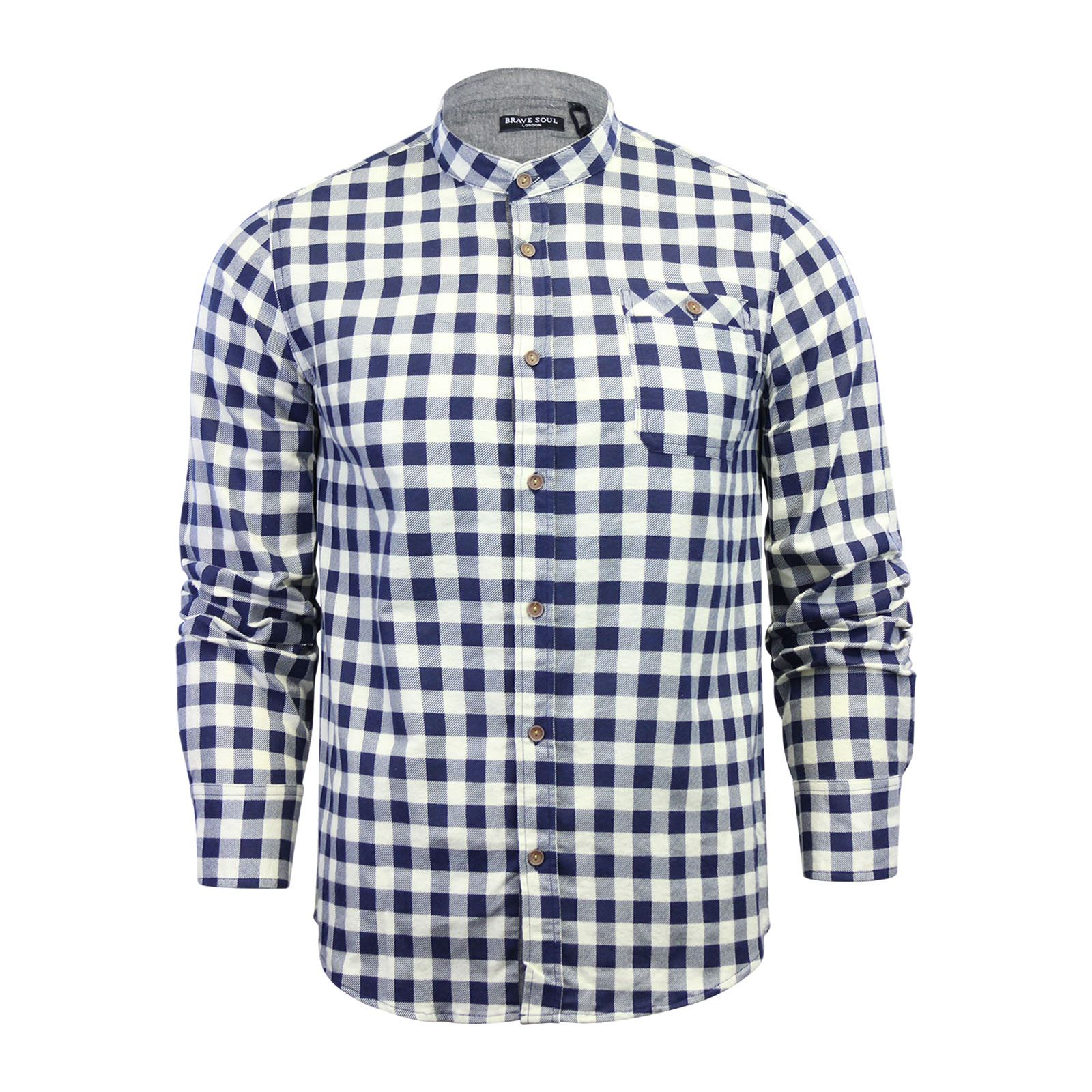 Brave-Soul-Mens-Check-Shirt-Flannel-Brushed-Cotton-Long-Sleeve-Casual-Top thumbnail 77