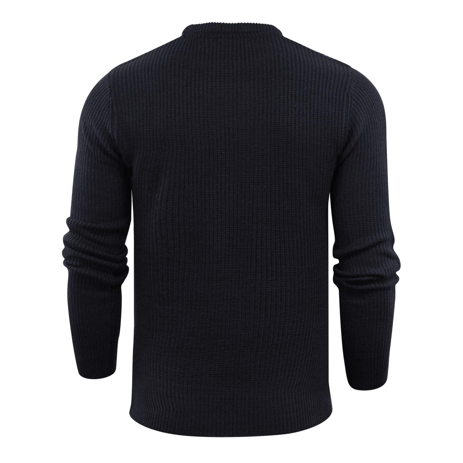 Brave-Soul-Fulton-Mens-Jumper-Kintted-Crew-Neck-Sweater thumbnail 5