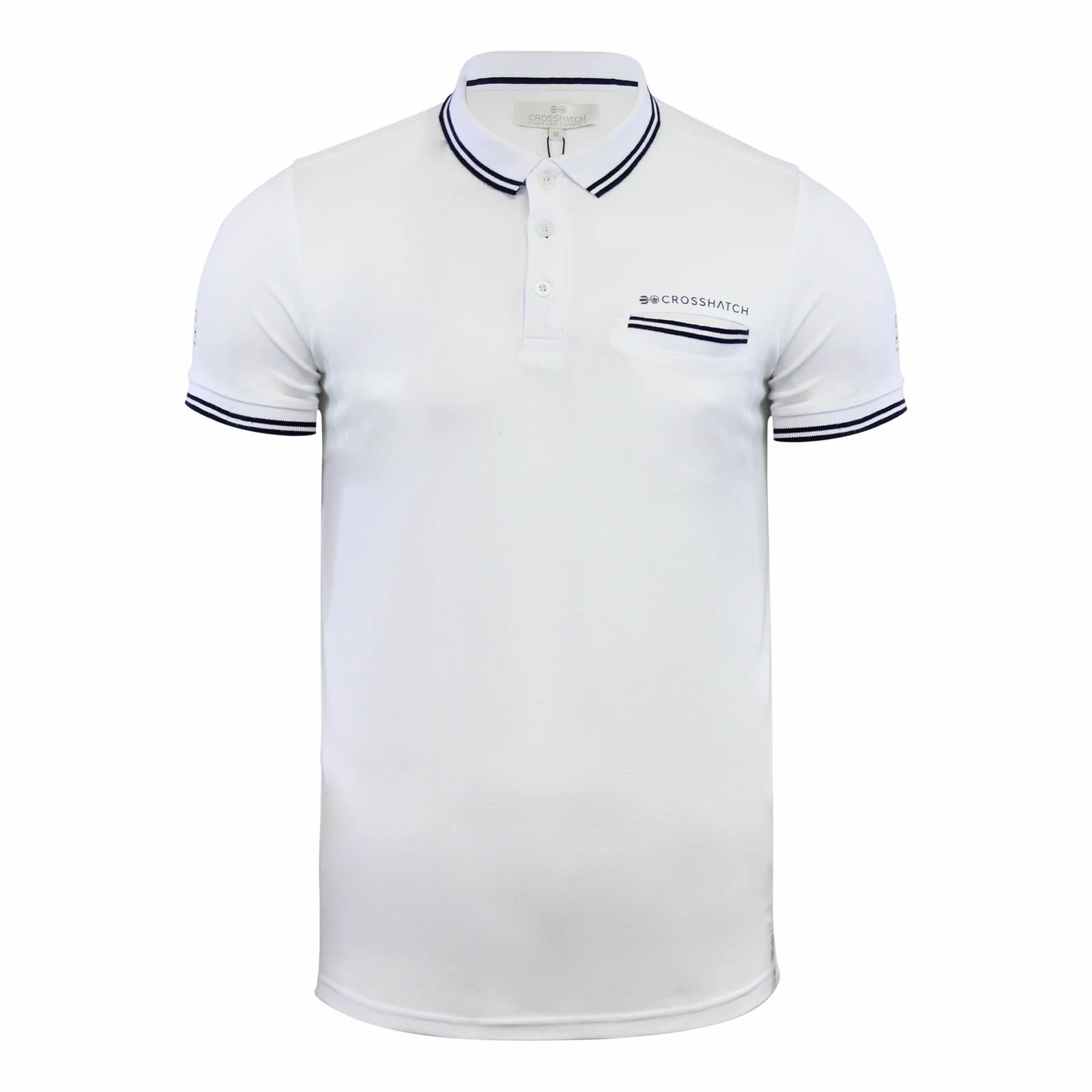 Crosshatch-Mens-Polo-T-Shirt-Pique-Polo-Cotton-Collared-Short-Sleeve-T-Shirt thumbnail 64