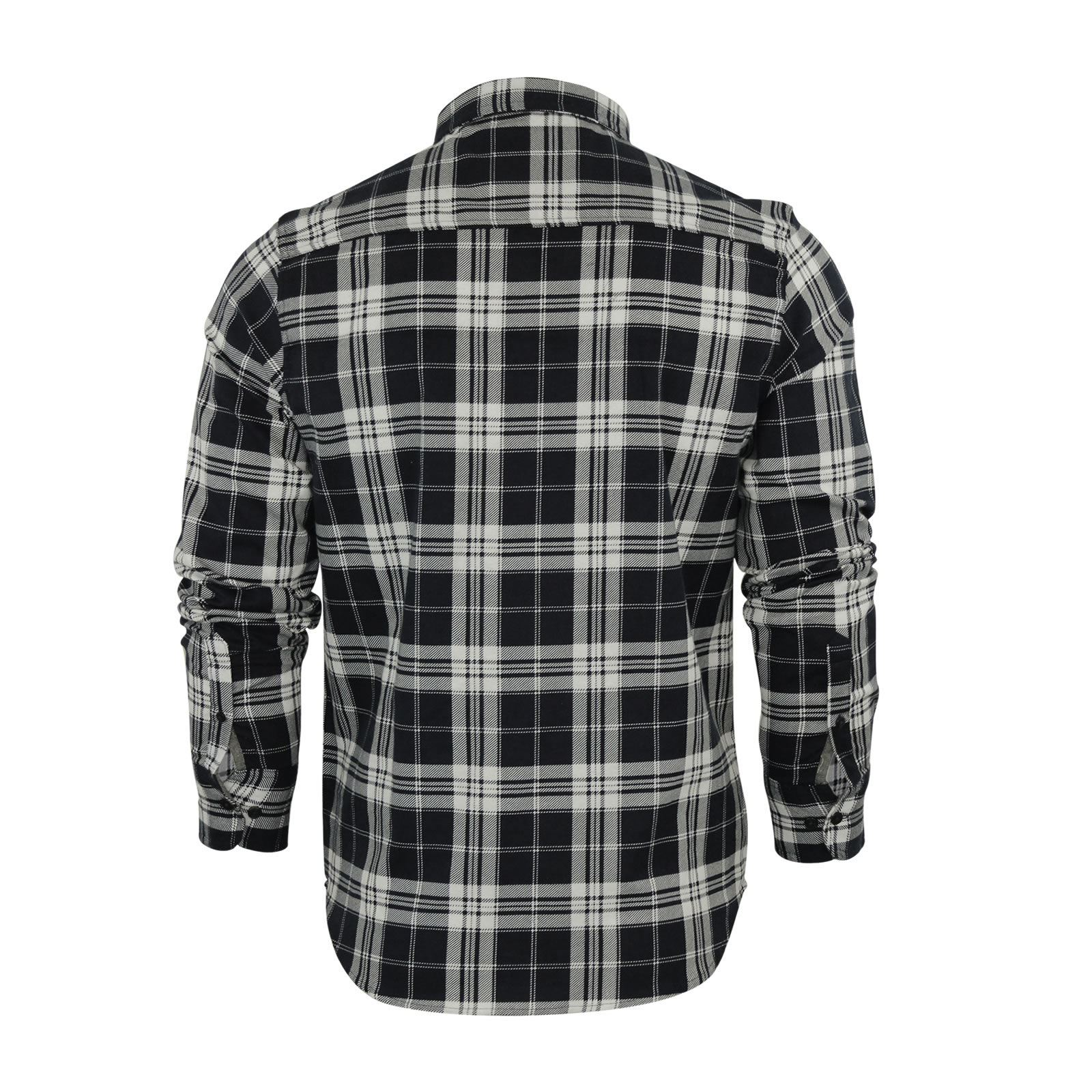 Mens-Check-Shirt-Brave-Soul-Flannel-Brushed-Cotton-Long-Sleeve-Casual-Top thumbnail 27