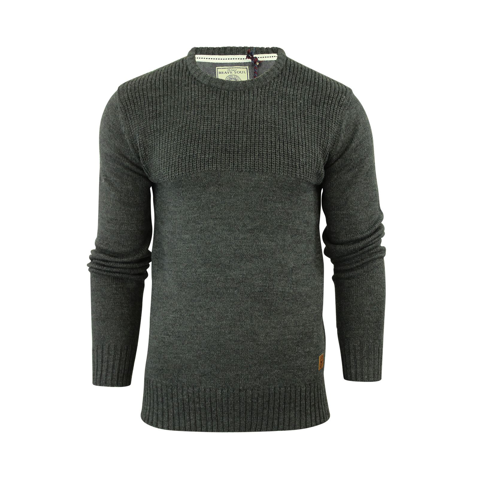 Mens-Jumper-Brave-Soul-Knitted-Sweater-In-Various-Styles thumbnail 24
