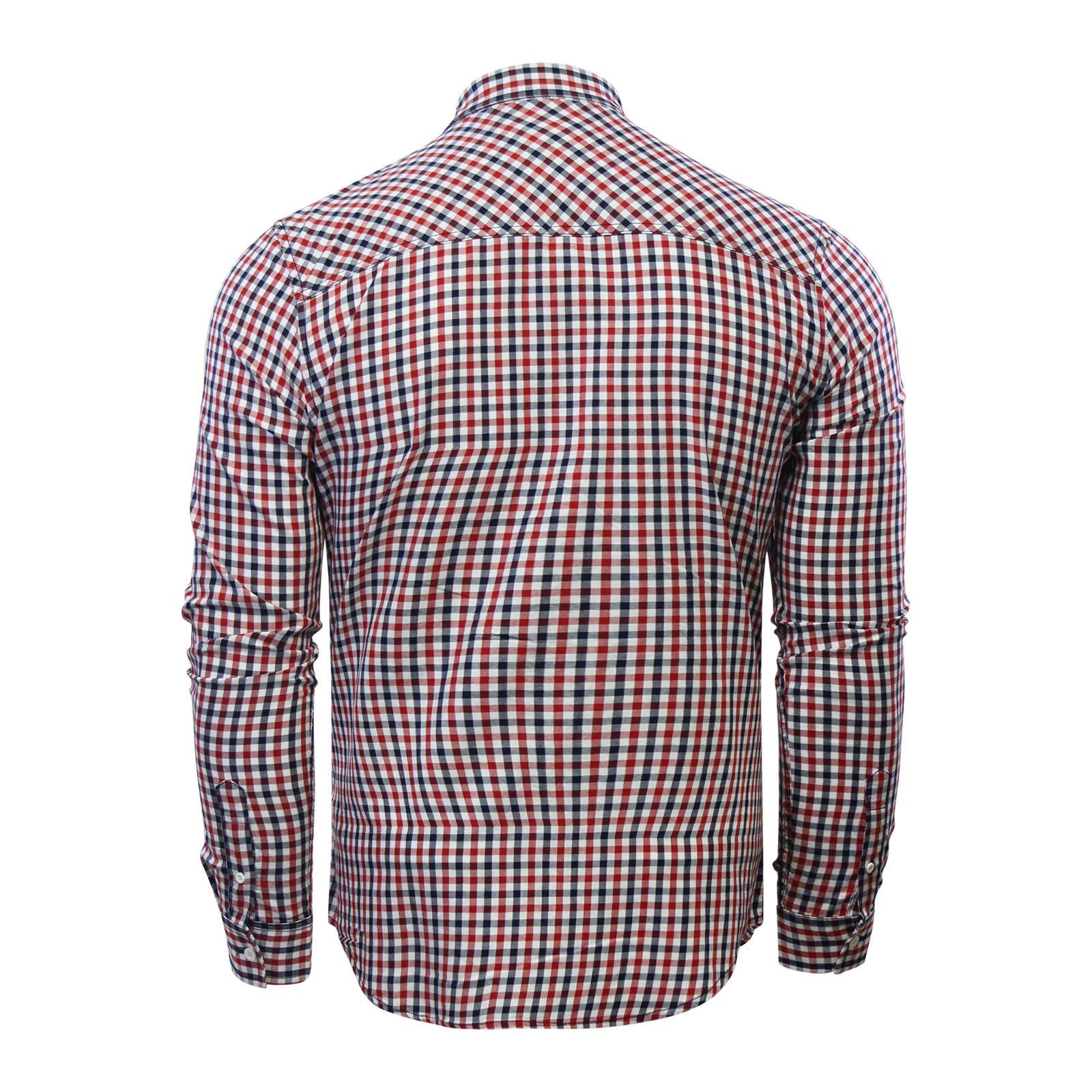 Crosshatch-Larix-Homme-Chemise-a-carreaux-en-coton-a-manches-longues-Top-Casual miniature 3