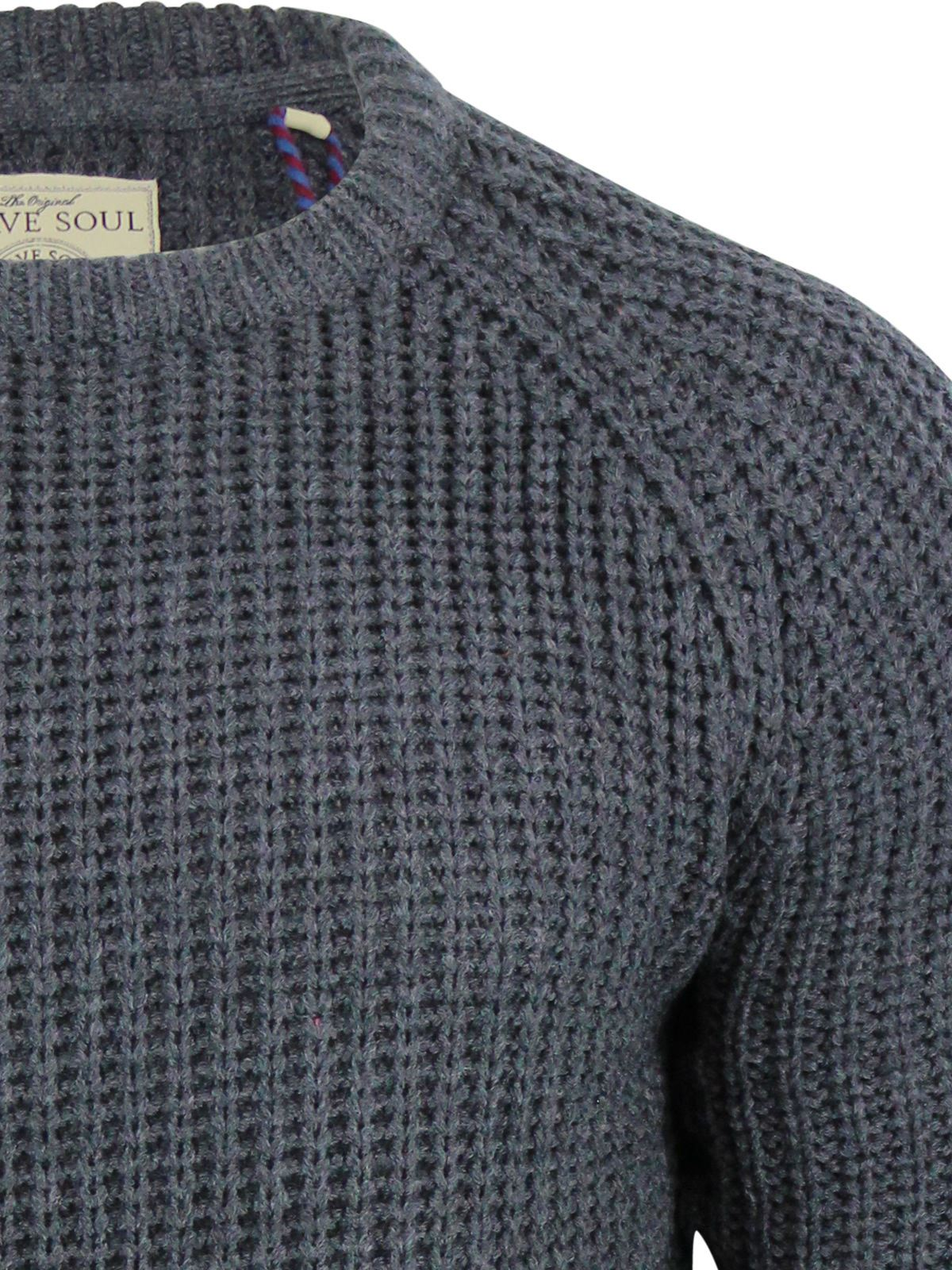Mens-Jumper-Brave-Soul-Knitted-Sweater-In-Various-Styles thumbnail 57