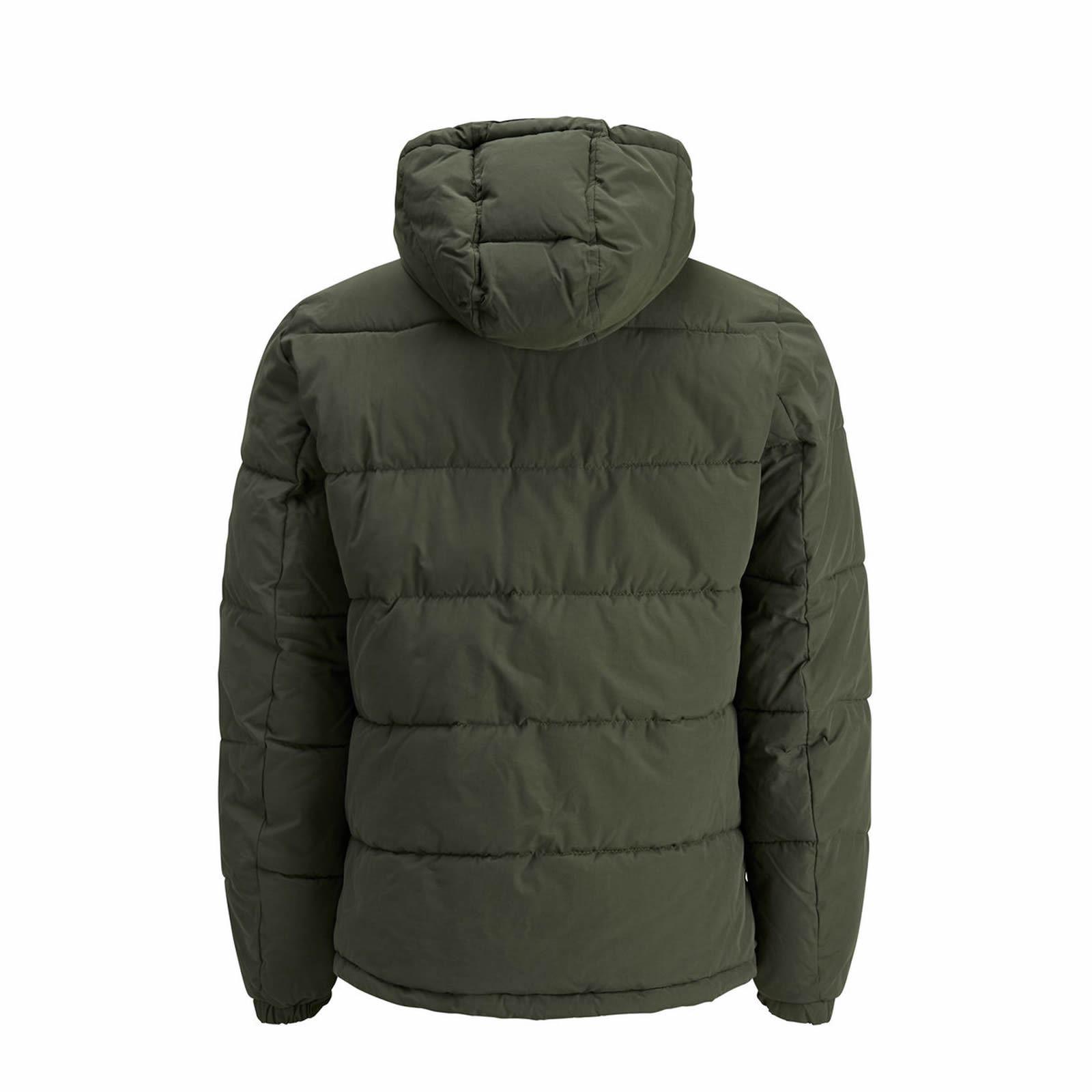 JACK-amp-JONES-Figure-Mens-Jacket-Hooded-Zip-Up-Padded-Bomber-Coat thumbnail 7