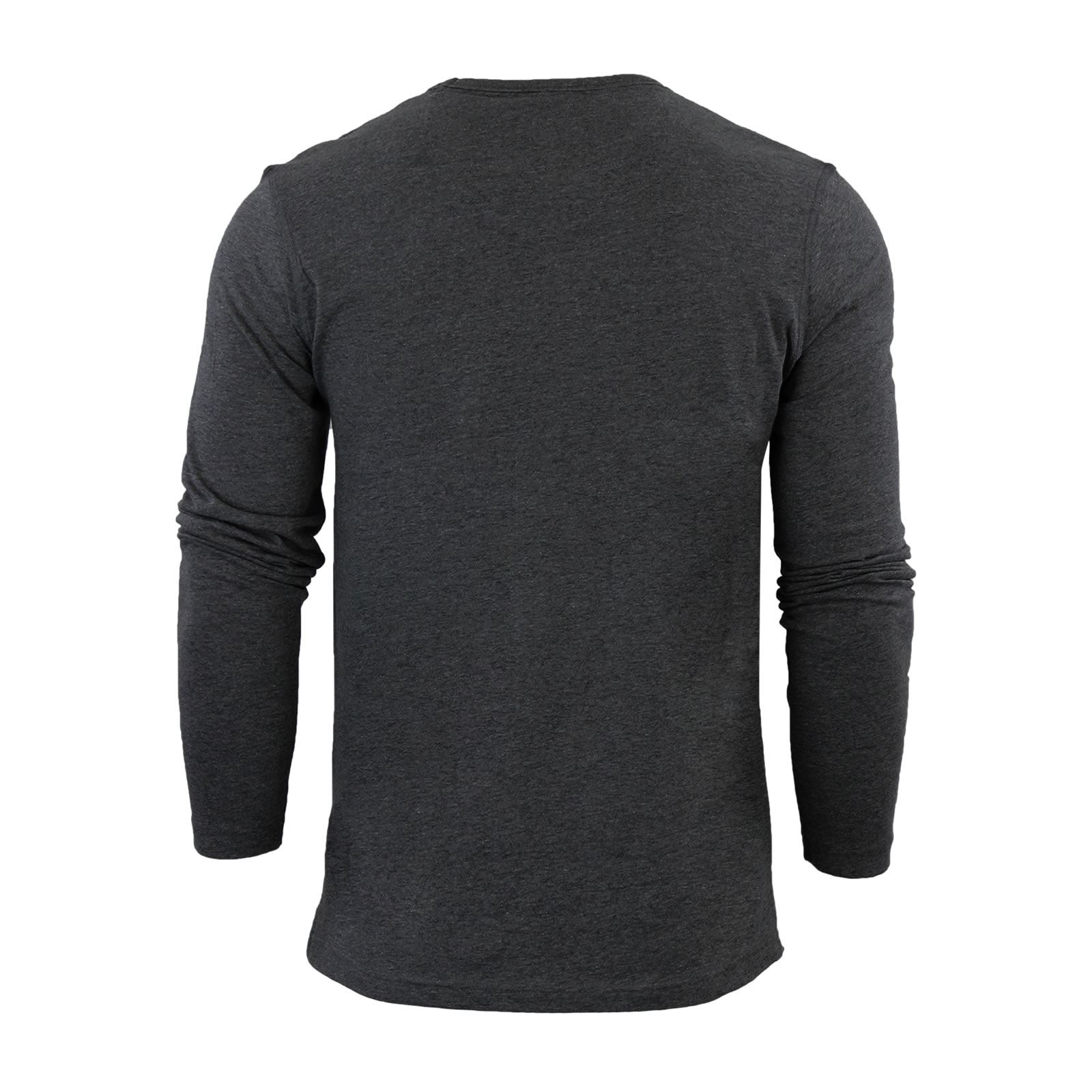 Brave-Soul-Prague-Mens-T-Shirt-by-Cotton-Long-Sleeved-Crew-Neck-Casual-Top thumbnail 23