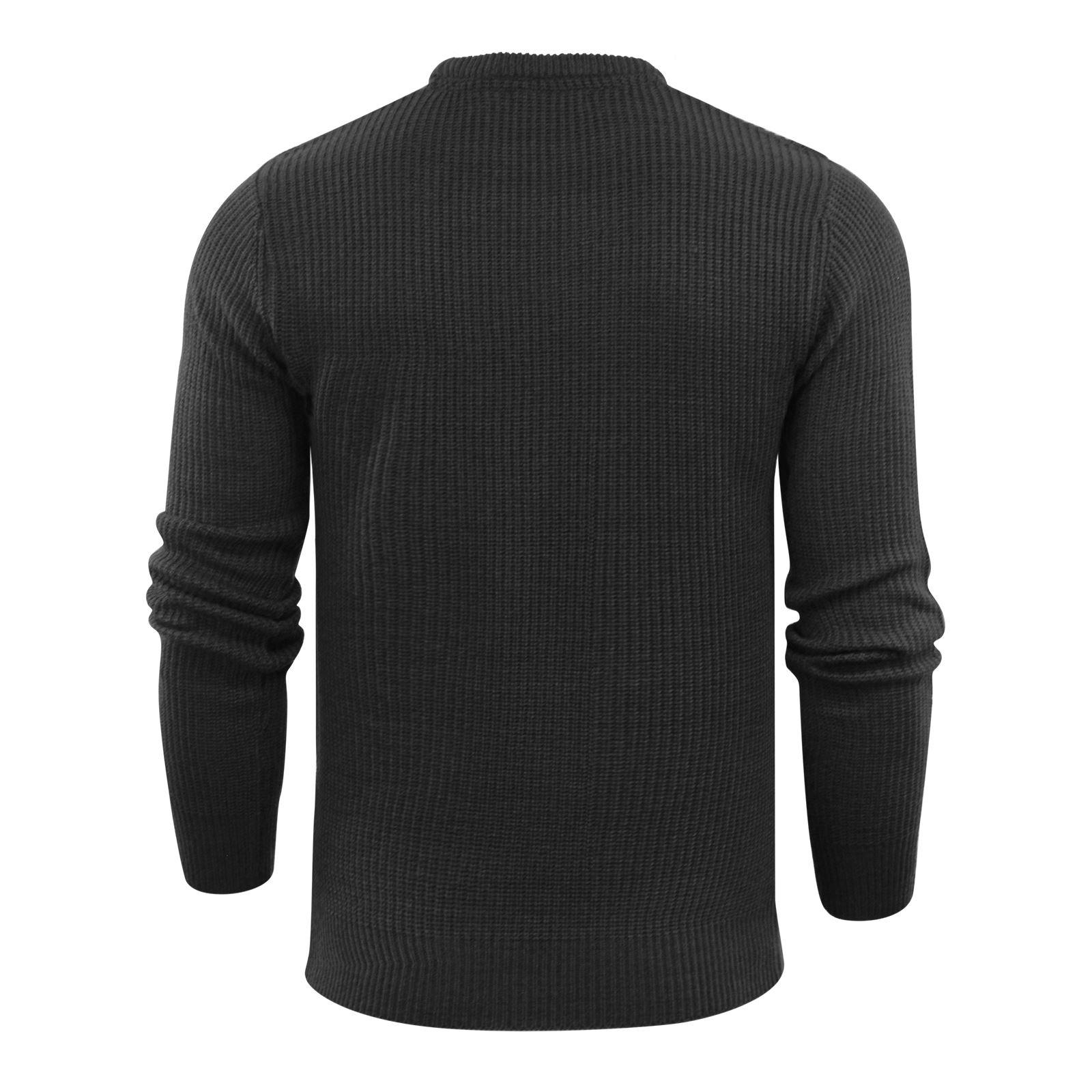 Brave-Soul-Fulton-Mens-Jumper-Kintted-Crew-Neck-Sweater thumbnail 9