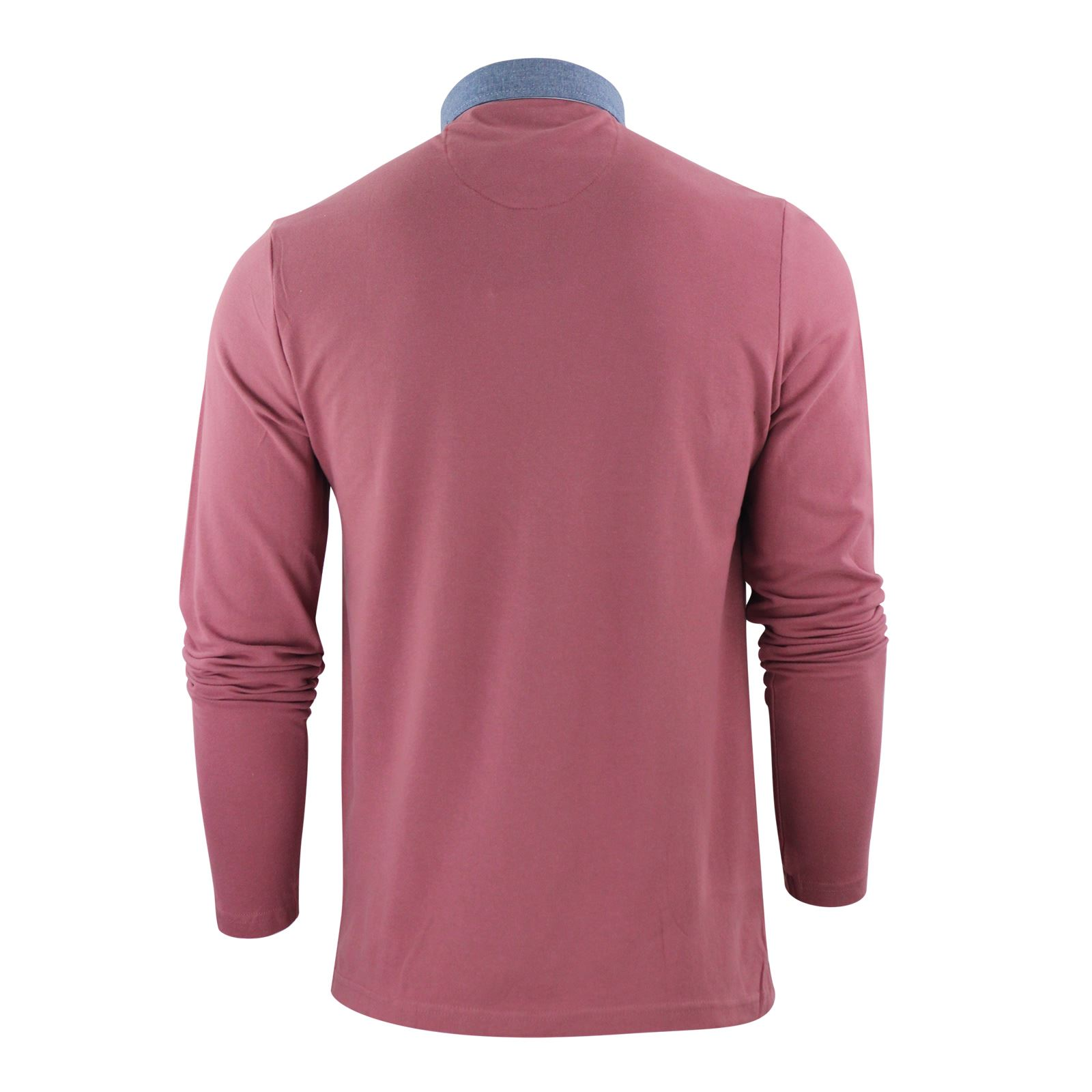 Mens-Polo-T-Shirt-Brave-Soul-Hera-Cotton-Long-Sleeve-Casual-Top thumbnail 15