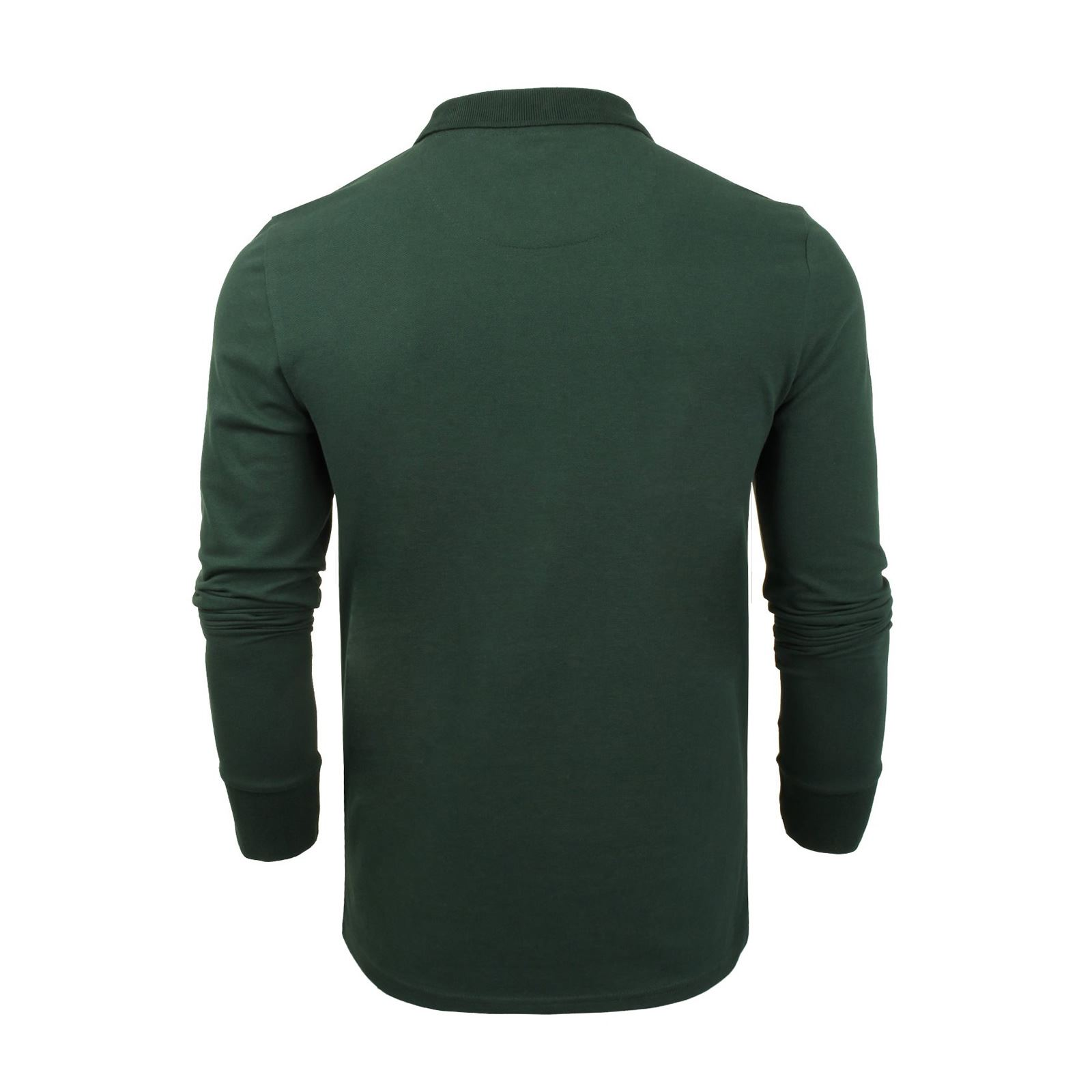 Brave-Soul-Lincoln-Mens-Polo-T-Shirt-Long-Sleeve-Cotton-Pique-Casual-Top thumbnail 49