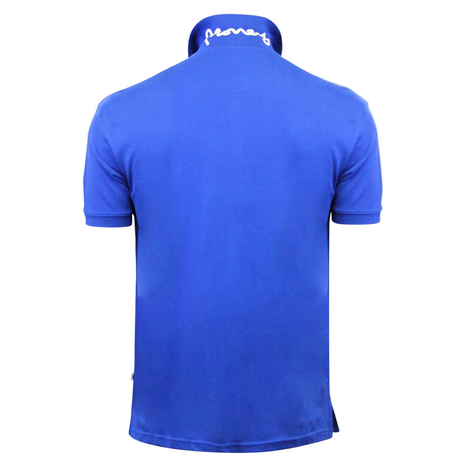 Argent-ante-Homme-Polo-Shirt-a-Manches-Courtes-en-Coton-Col-Haut-Decontracte miniature 9