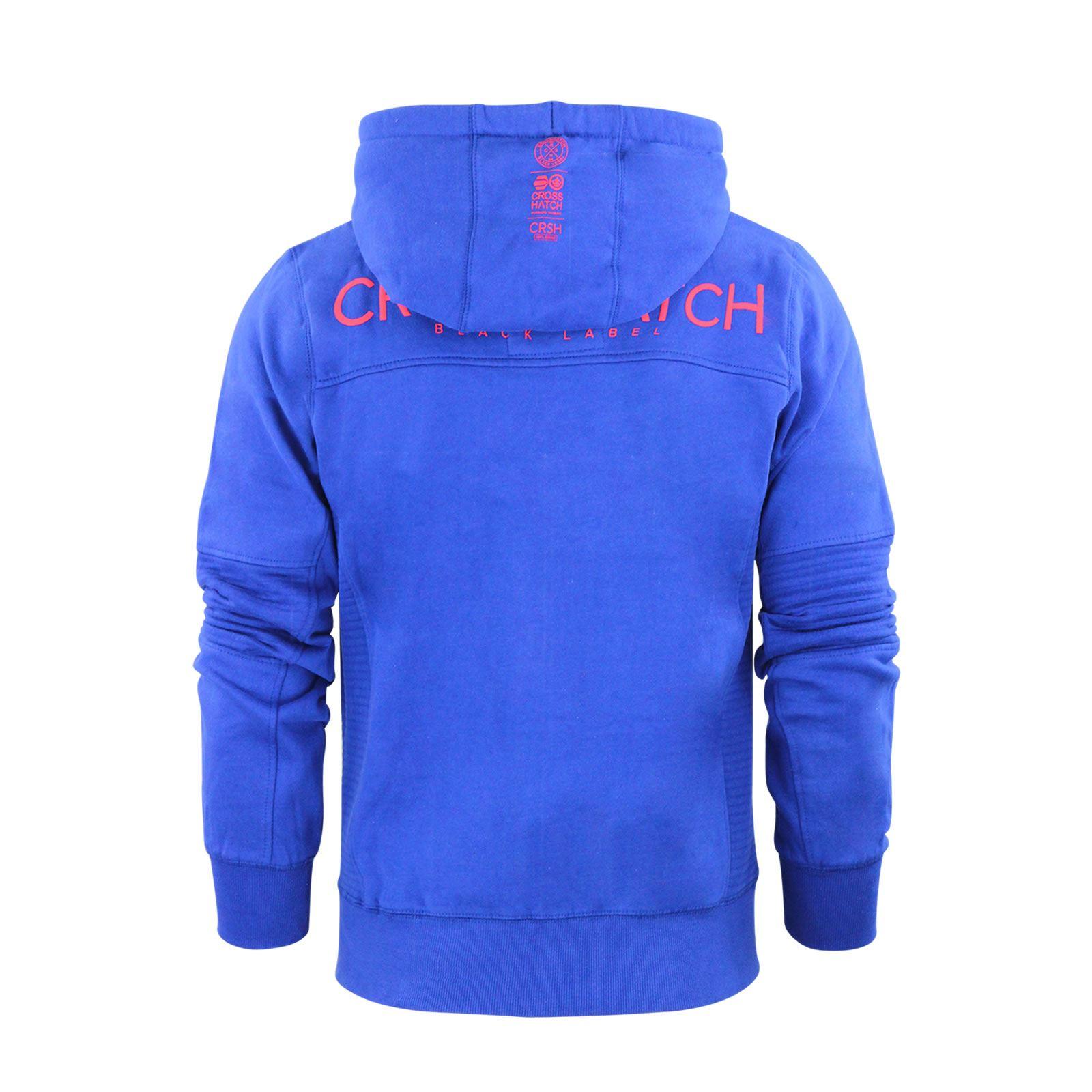 Mens-Hoodie-Crosshatch-Ribbler-Zip-Up-Hooded-Jacket-Pullover-Jumper-Sweatershirt thumbnail 16