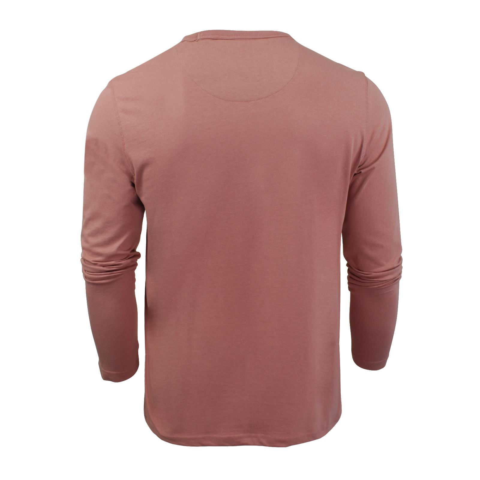 Brave-Soul-Prague-Mens-T-Shirt-by-Cotton-Long-Sleeved-Crew-Neck-Casual-Top thumbnail 20