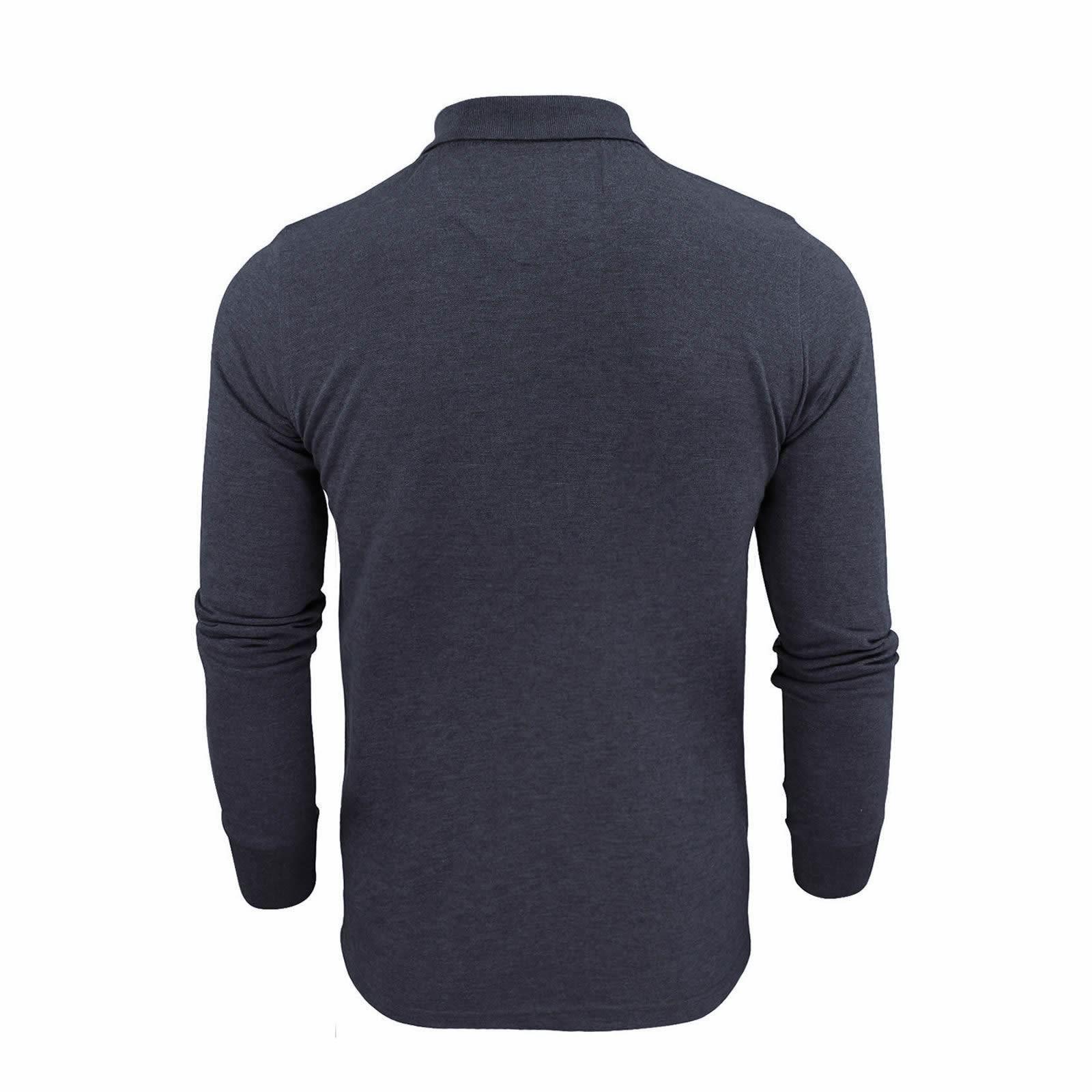 Brave-Soul-Polo-Homme-a-Manches-Longues-A-Col-Haut-Dans-Divers-Styles miniature 27