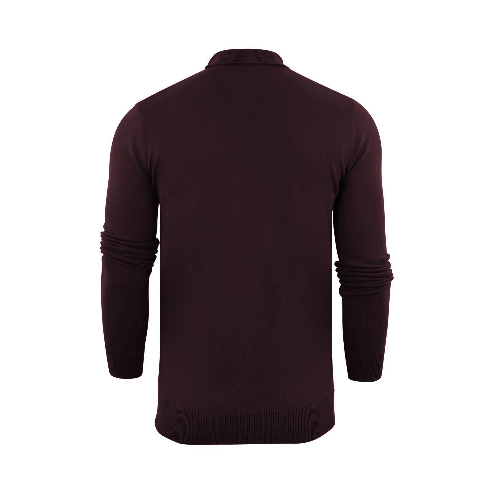 Brave-Soul-Patte-De-Boutonnage-Homme-Tricot-Polo-T-Shirt-a-Col-Pull miniature 27