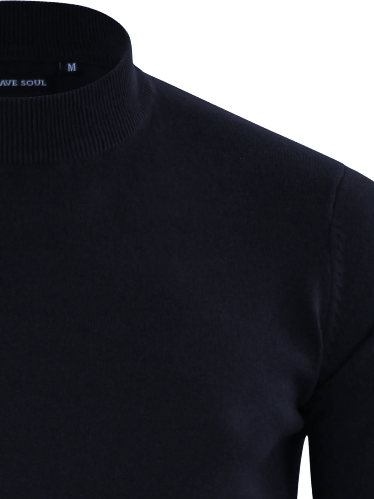 Mens-Jumper-Brave-Soul-Turtle-Neck-Cotton-Pull-Over-Sweater thumbnail 24