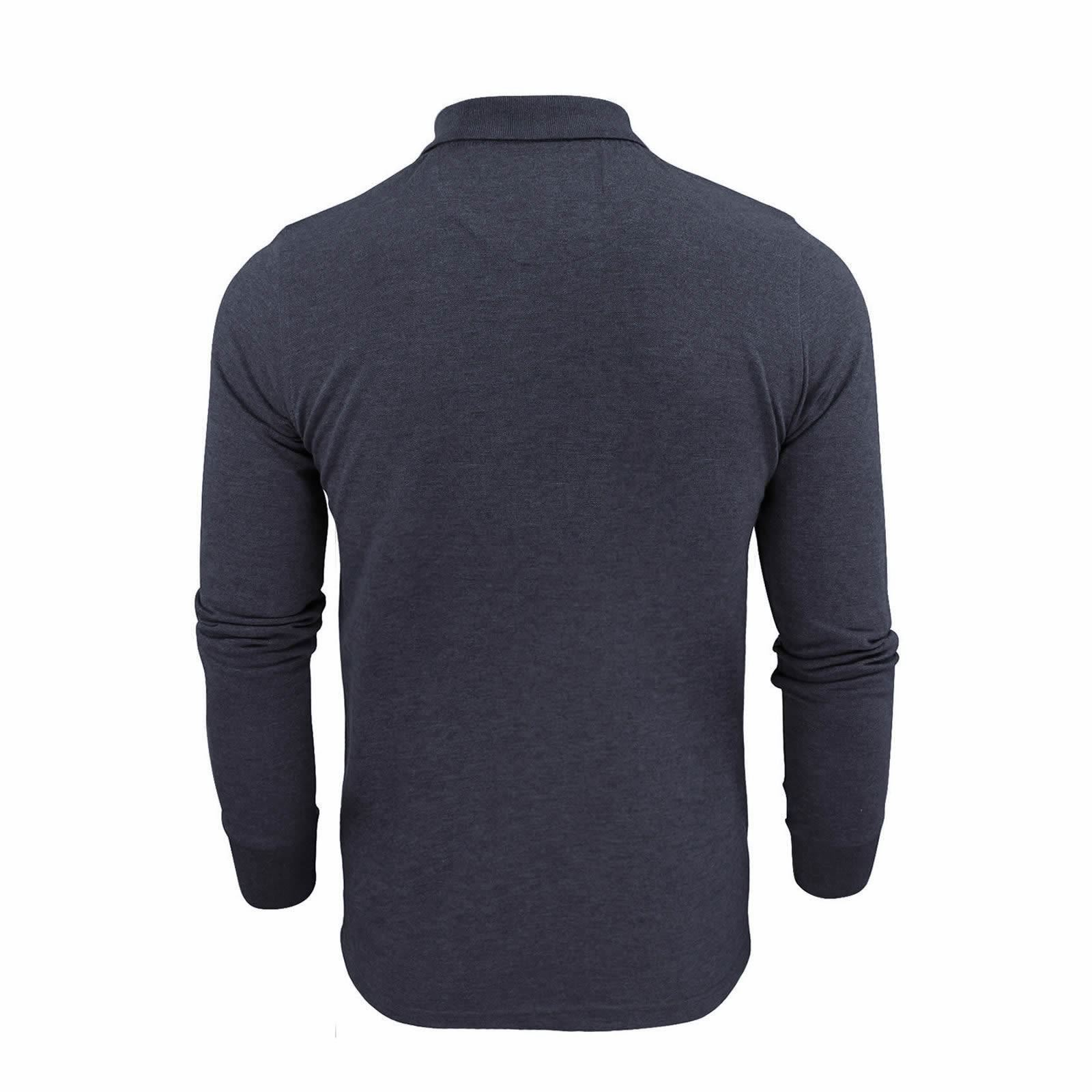 Brave-Soul-Mens-Polo-Shirt-Long-Sleeve-Collared-Top-In-Various-Styles thumbnail 13
