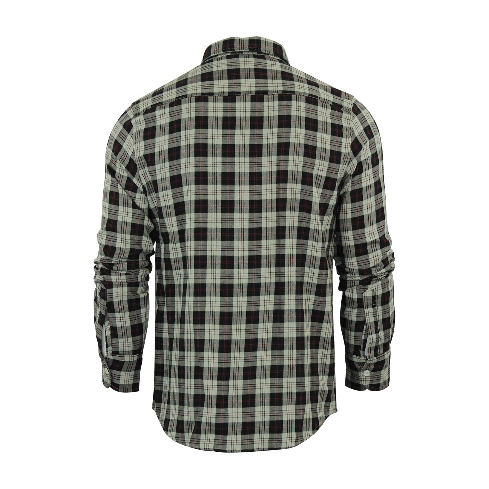 Mens-Check-Shirt-Brave-Soul-Flannel-Brushed-Cotton-Long-Sleeve-Casual-Top thumbnail 57