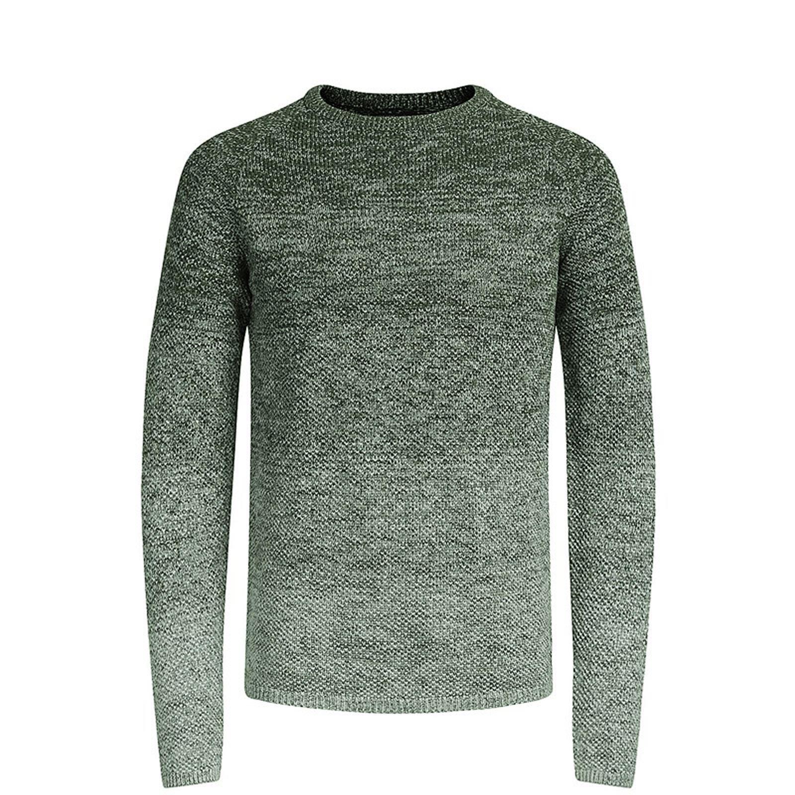 JACK-amp-JONES-CARBURANTE-Maglione-da-Uomo-Lavorato-a-Maglia-Girocollo-Pullover-sweater miniatura 3