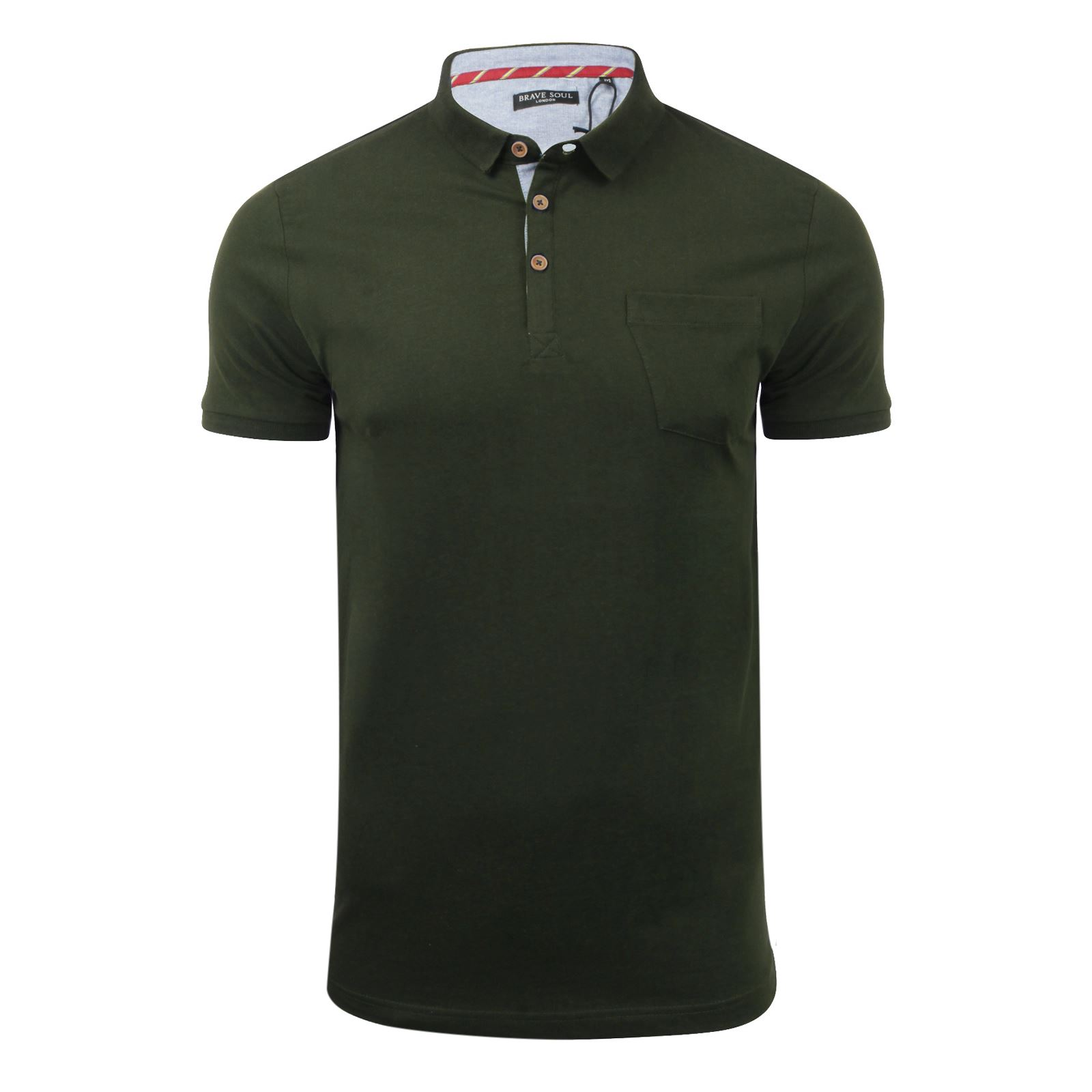 Brave-Soul-Glover-Mens-Polo-T-Shirt-Cotton-Collared-Short-Sleeve-Casual-Top thumbnail 67