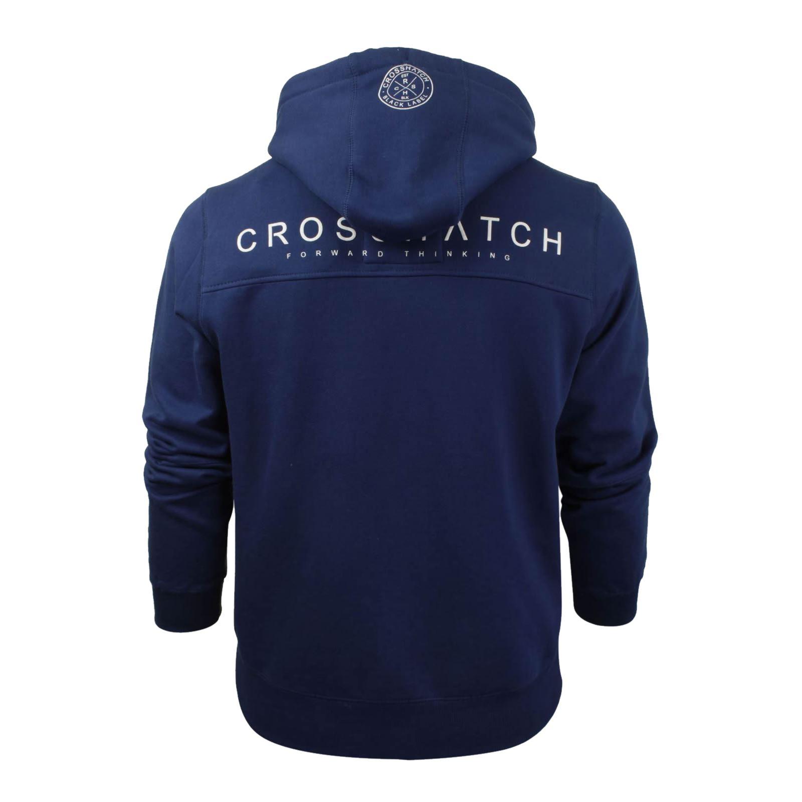 Mens-Hoodie-Crosshatch-Ribbler-Zip-Up-Hooded-Jacket-Pullover-Jumper-Sweatershirt thumbnail 25