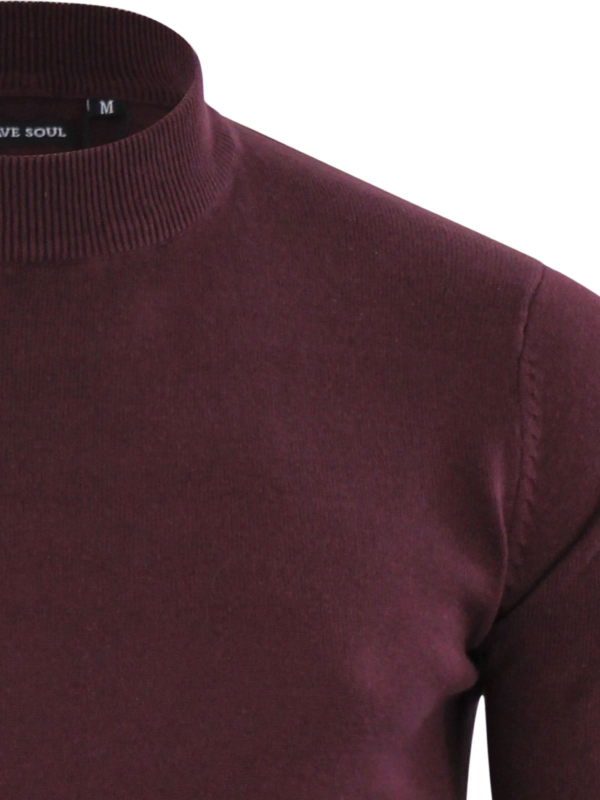 Mens-Jumper-Brave-Soul-Turtle-Neck-Cotton-Pull-Over-Sweater thumbnail 16