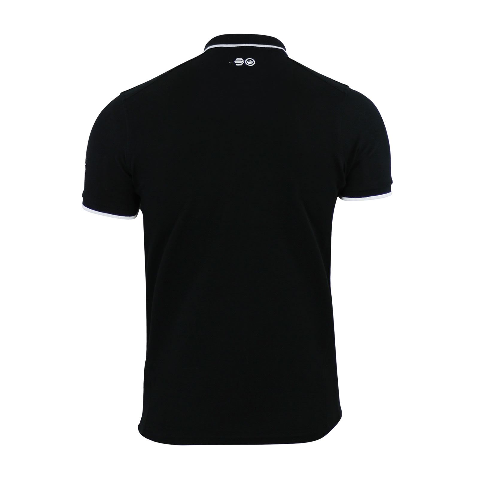 Mens-Polo-T-Shirt-Crosshatch-Pinback-Collared-Cotton-Short-Sleeve-Casual-Top