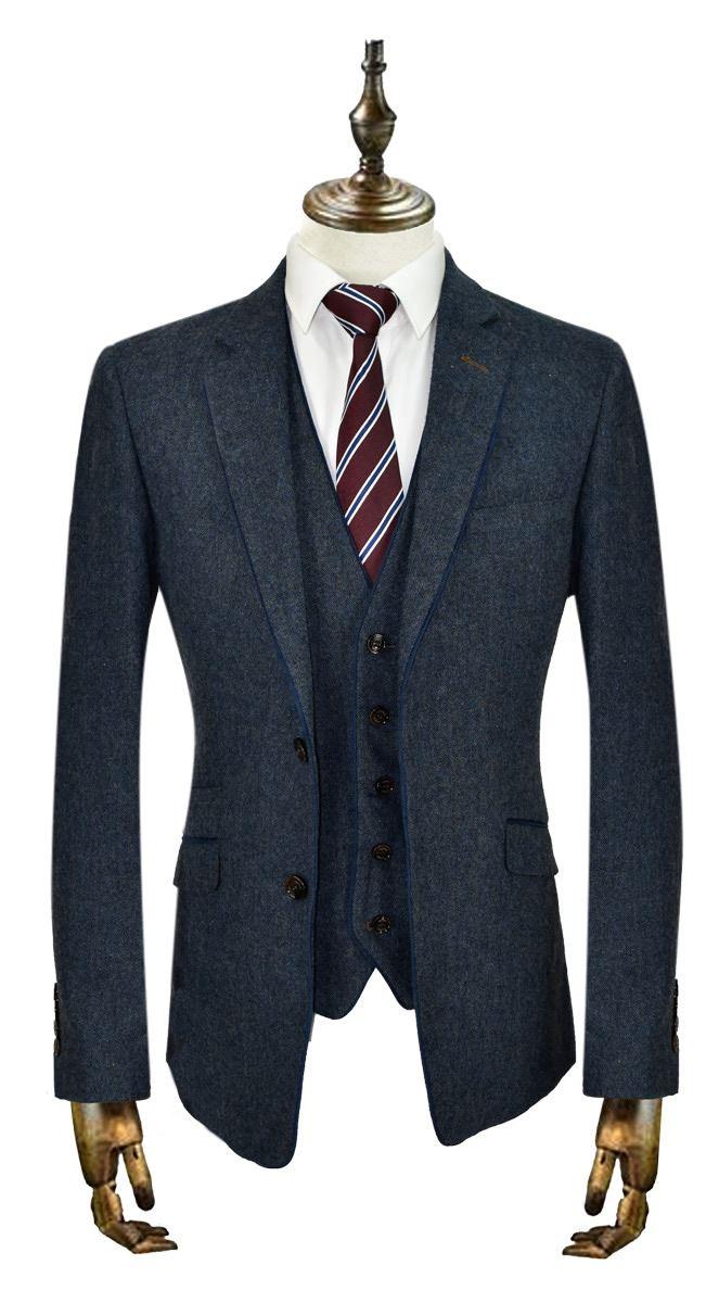 Mens Suits Cavani Kaos 3Pcs Wedding Party Suit Trouser / Blazer ...