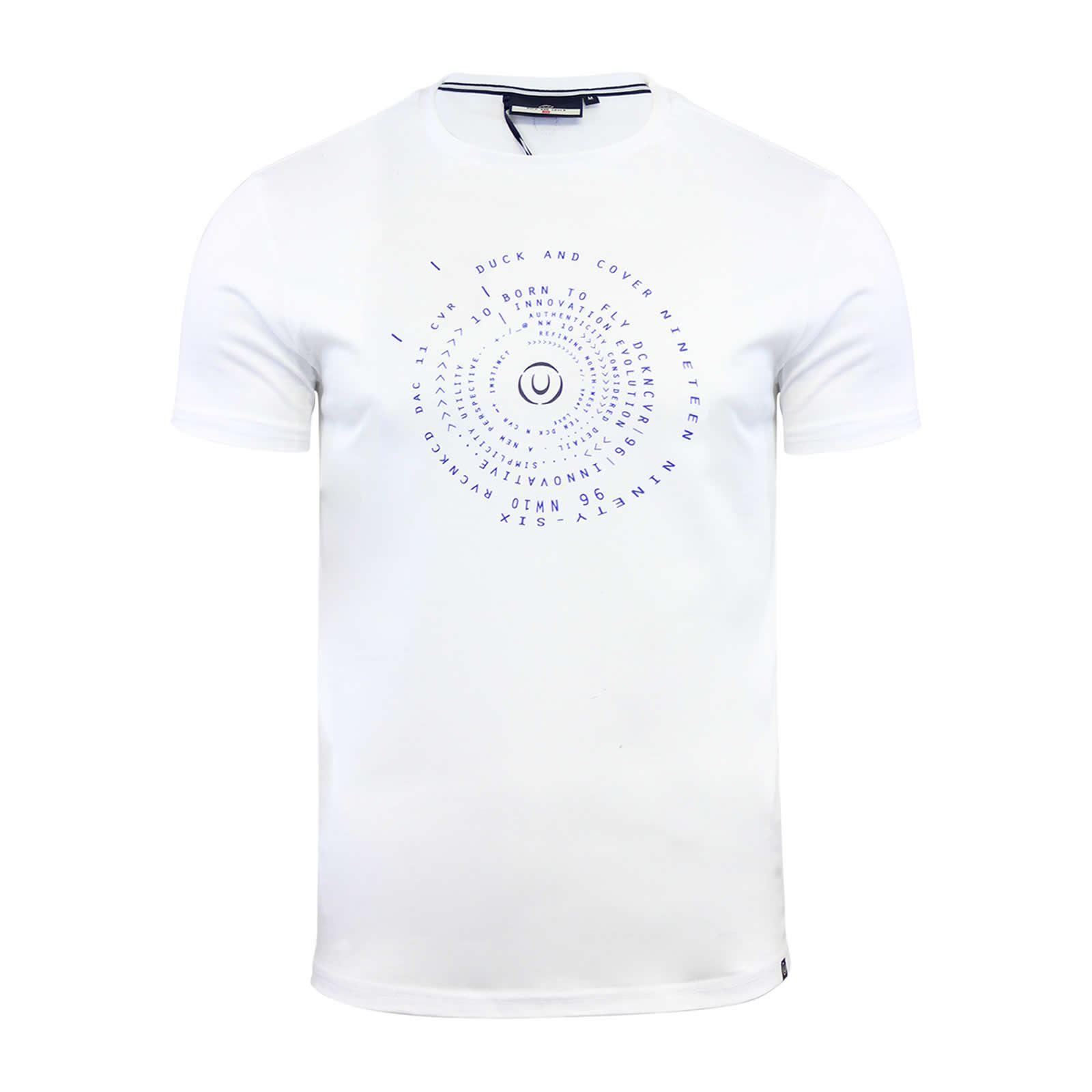 miniature 6 - Hommes-T-Shirt-Duck-amp-Cover-Quoins-coton-graphique-a-encolure-ras-du-cou-a-manches-courtes-Tee