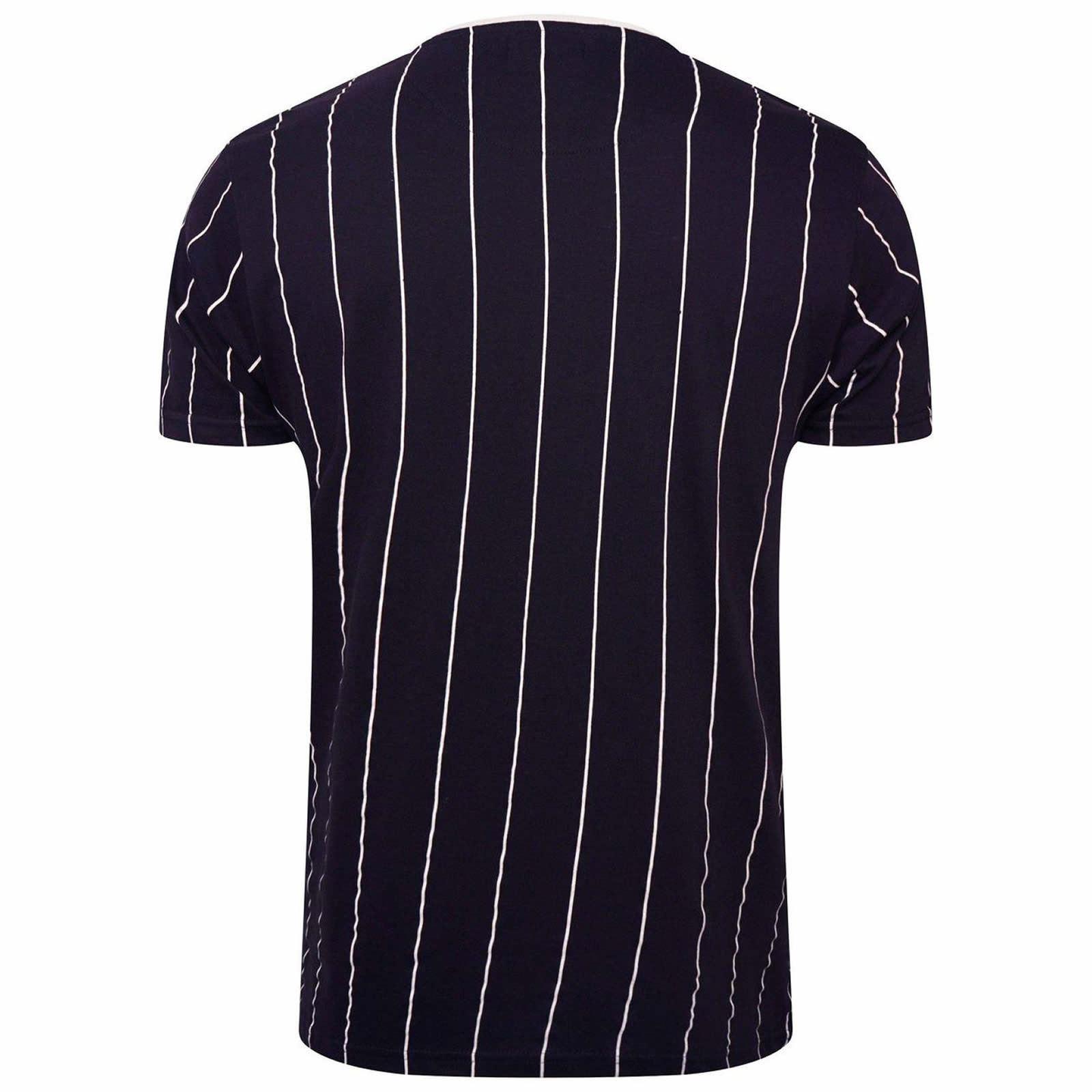 Hommes-T-Shirt-Brave-Soul-Stobart-a-encolure-ras-du-cou-a-manches-courtes-a-rayures-verticales-Tee miniature 7