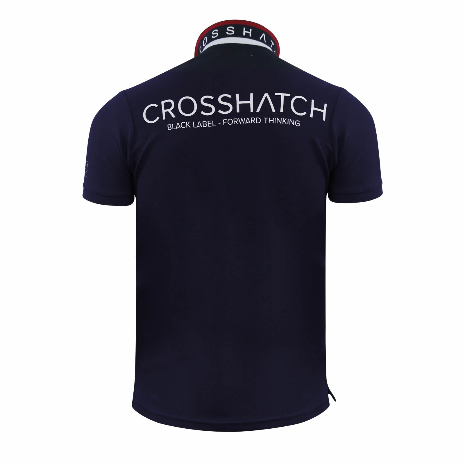 Mens-Polo-T-Shirt-Crosshatch-Evangels-Collared-Cotton-Short-Sleeve-Casual-Top thumbnail 14