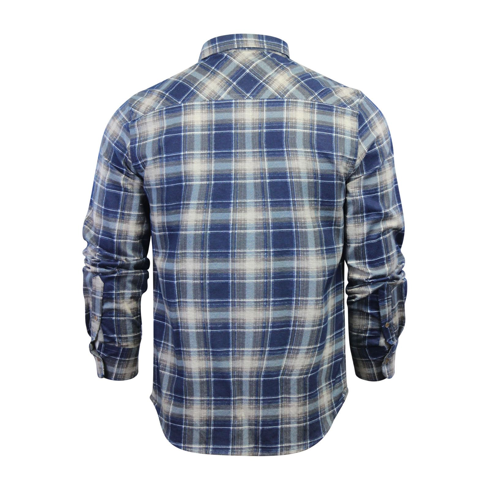 Mens-Check-Shirt-Brave-Soul-Flannel-Brushed-Cotton-Long-Sleeve-Casual-Top thumbnail 97