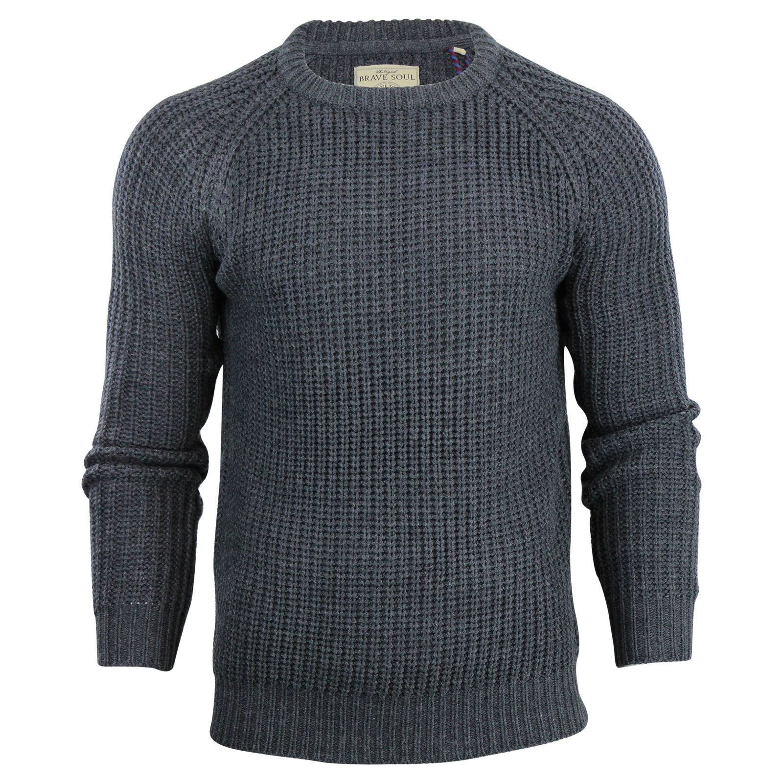 Mens-Jumper-Brave-Soul-Knitted-Sweater-In-Various-Styles thumbnail 55