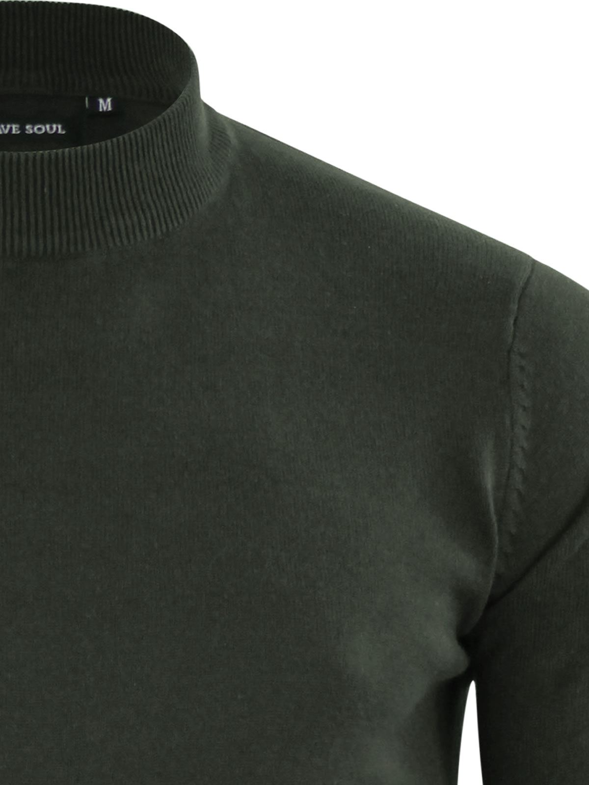 Mens-Jumper-Brave-Soul-Turtle-Neck-Cotton-Pull-Over-Sweater thumbnail 19