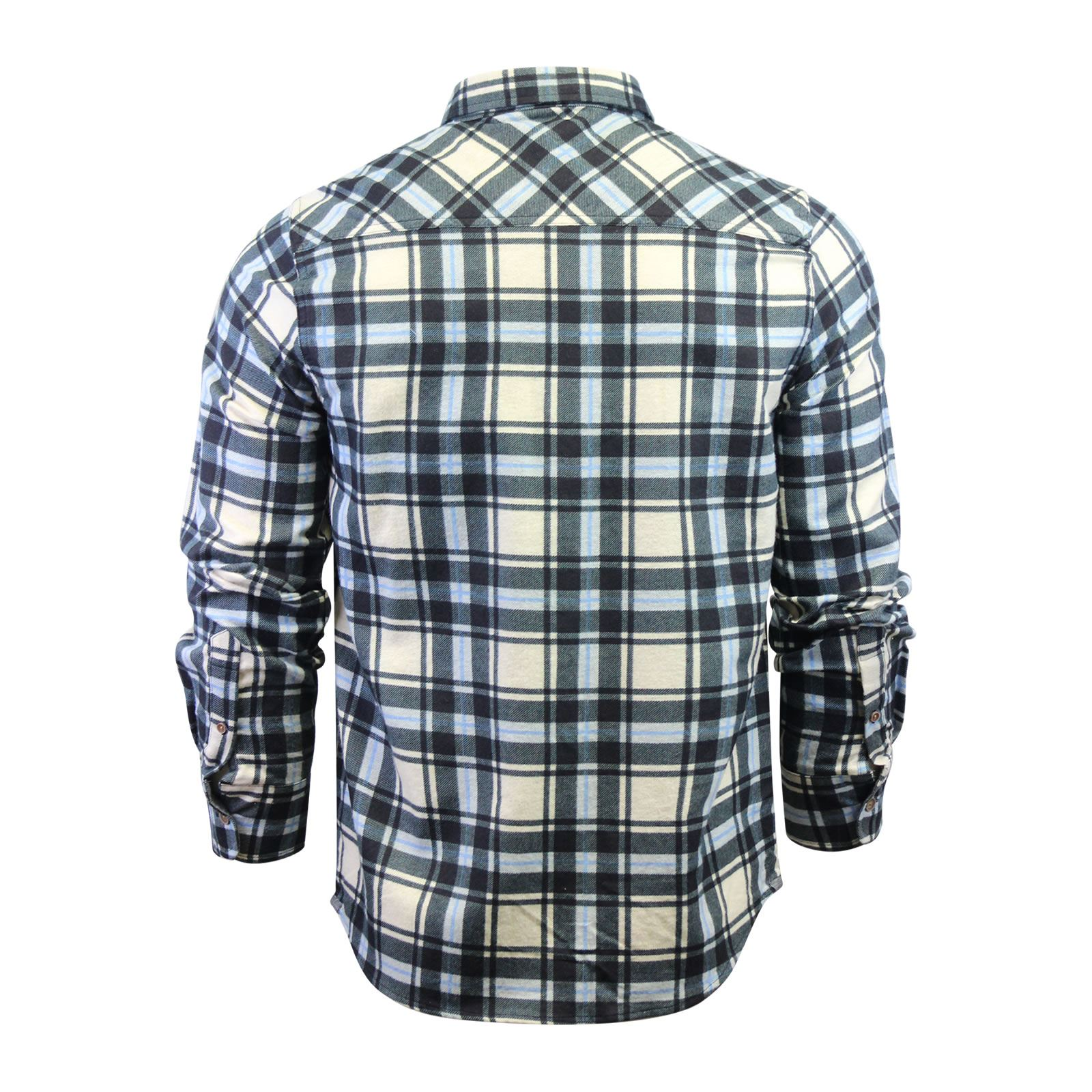 Mens-Check-Shirt-Brave-Soul-Flannel-Brushed-Cotton-Long-Sleeve-Casual-Top thumbnail 91