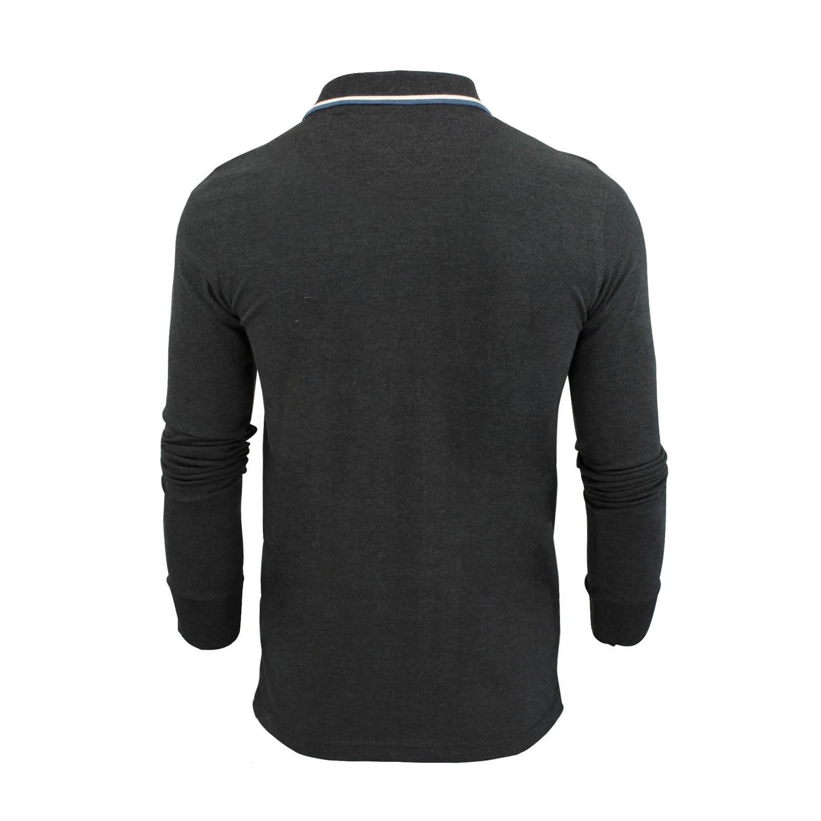 Mens-Polo-T-Shirt-Brave-Soul-Lincoln-Long-Sleeve-Cotton-Pique-Casual-Top thumbnail 43