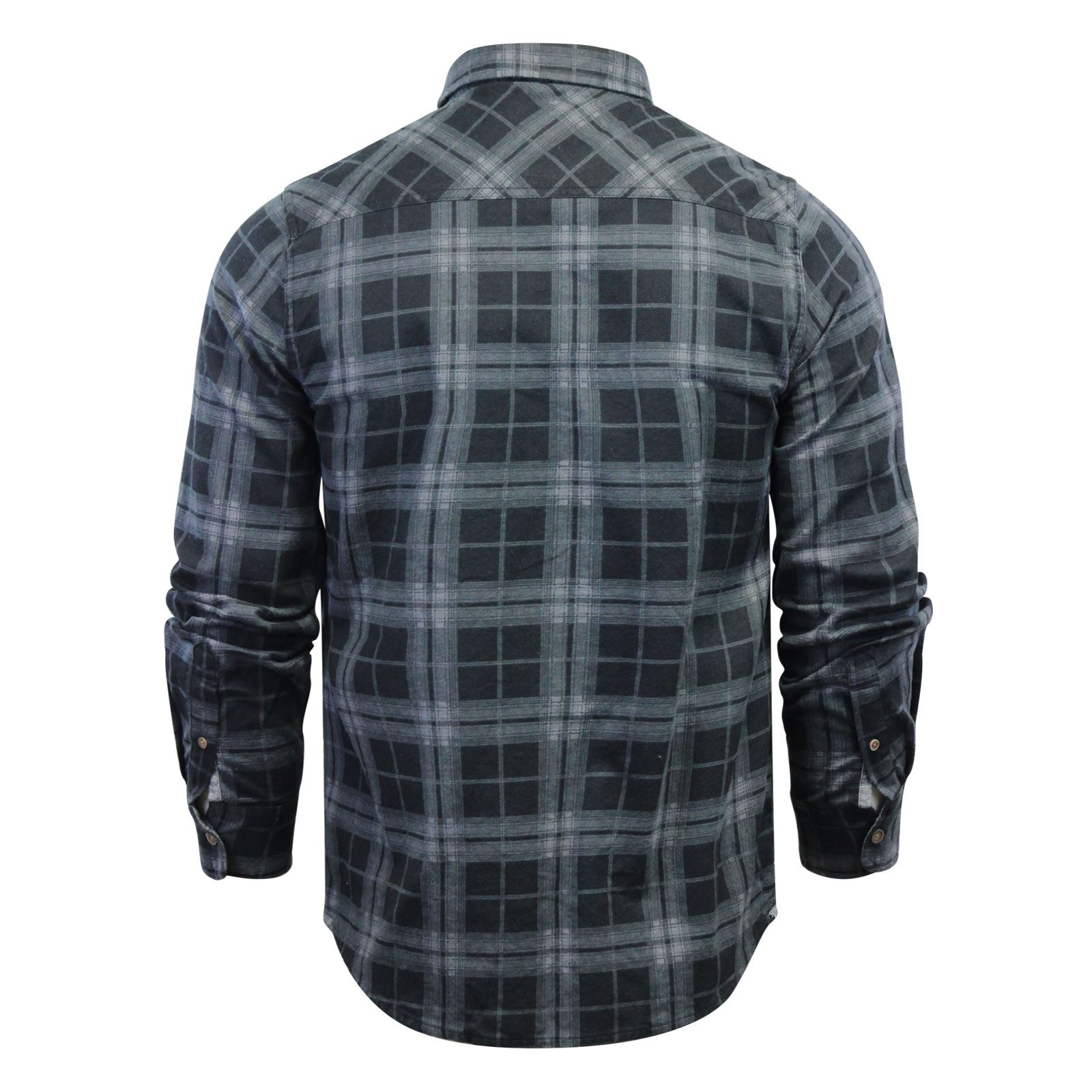 Mens-Check-Shirt-Brave-Soul-Flannel-Brushed-Cotton-Long-Sleeve-Casual-Top thumbnail 109