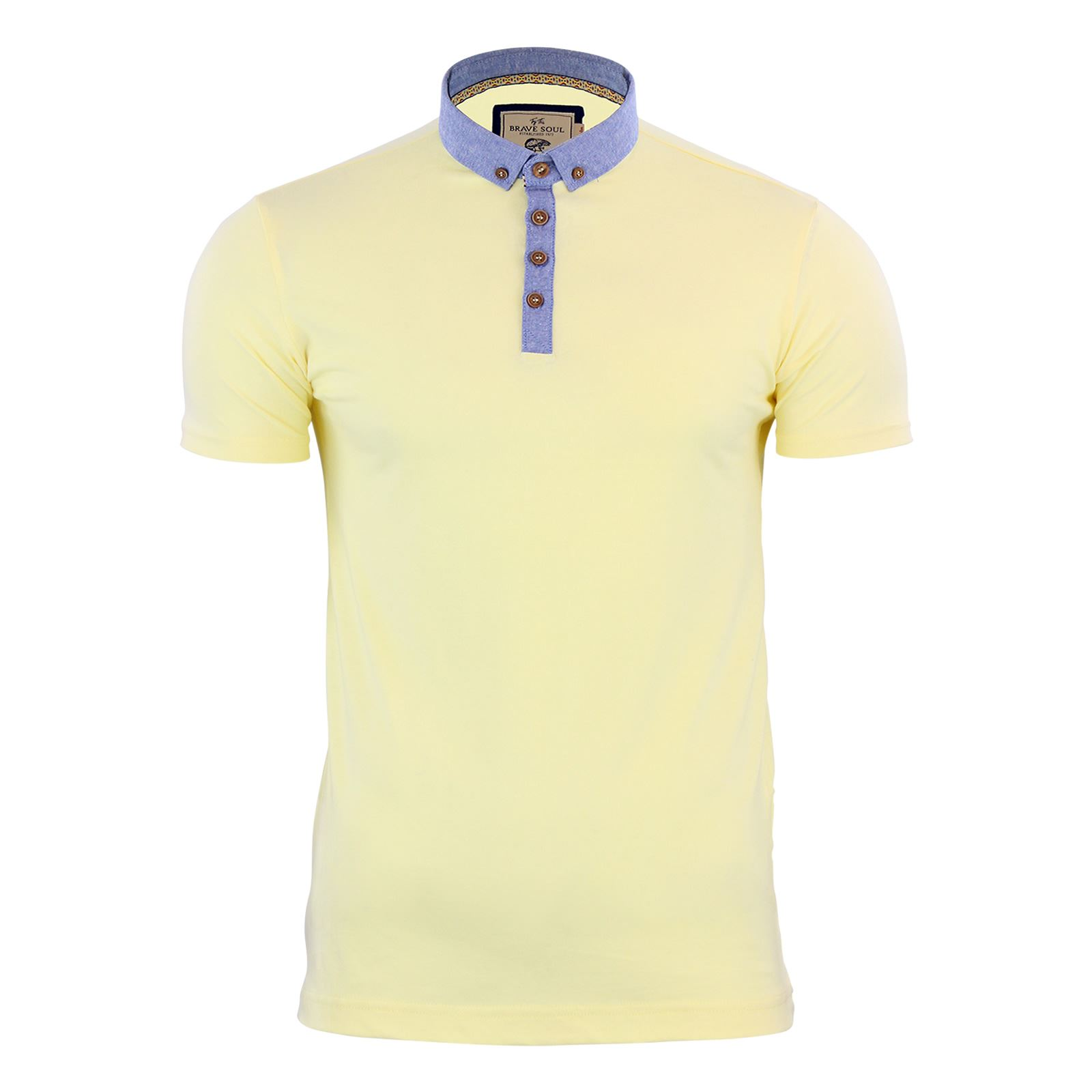 Brave-Soul-Glover-Mens-Polo-T-Shirt-Cotton-Collared-Short-Sleeve-Casual-Top thumbnail 17