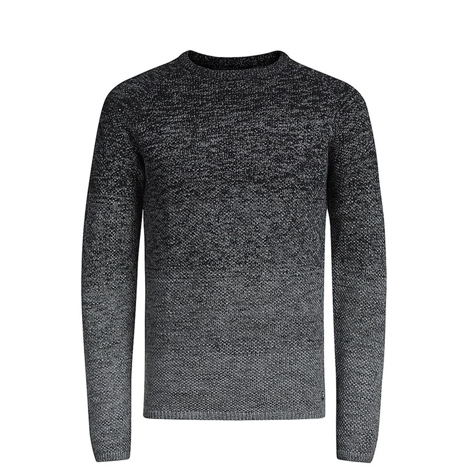 JACK-amp-JONES-CARBURANTE-Maglione-da-Uomo-Lavorato-a-Maglia-Girocollo-Pullover-sweater miniatura 5