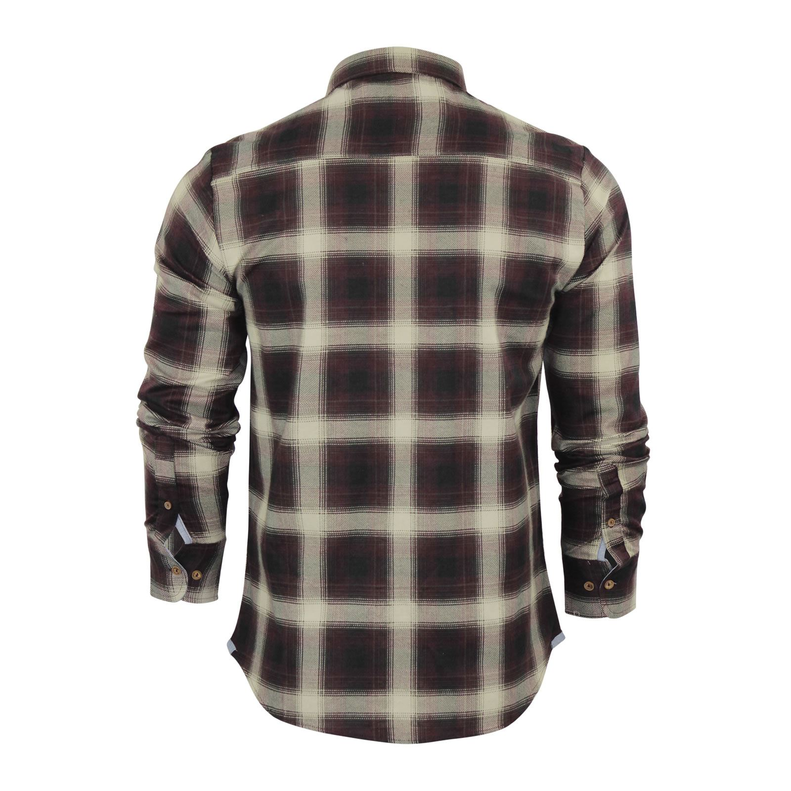 Mens-Check-Shirt-Brave-Soul-Flannel-Brushed-Cotton-Long-Sleeve-Casual-Top thumbnail 18