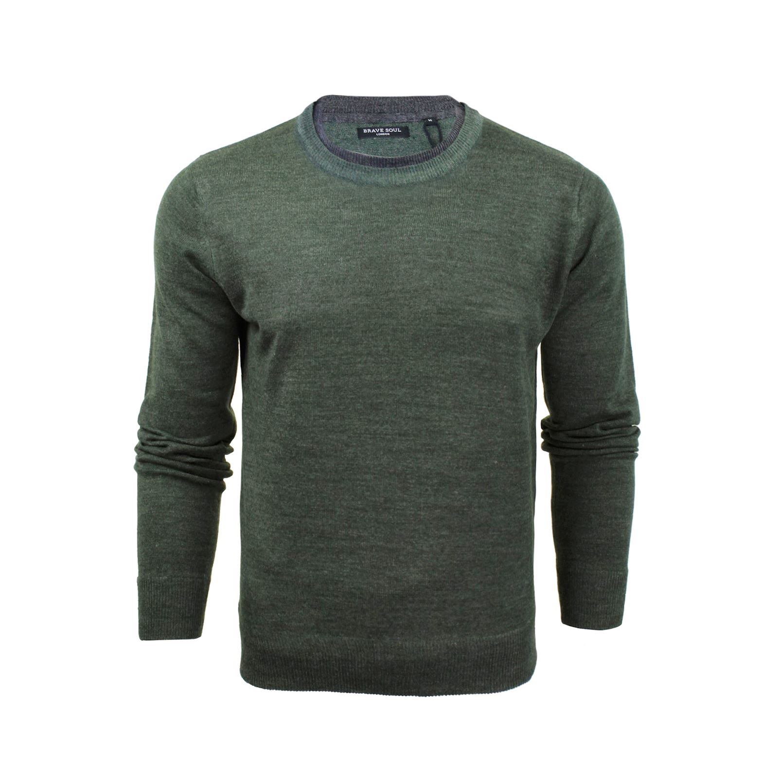 Mens-Jumper-Brave-Soul-Knitted-Sweater-In-Various-Styles thumbnail 6