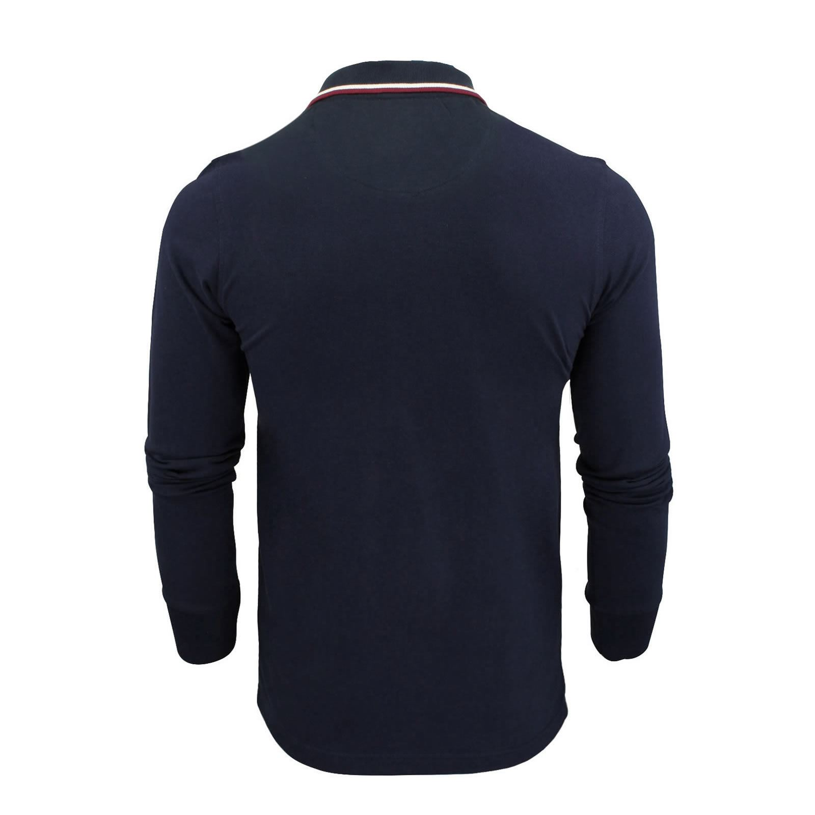 Mens-Polo-T-Shirt-Brave-Soul-Lincoln-Long-Sleeve-Cotton-Pique-Casual-Top thumbnail 46