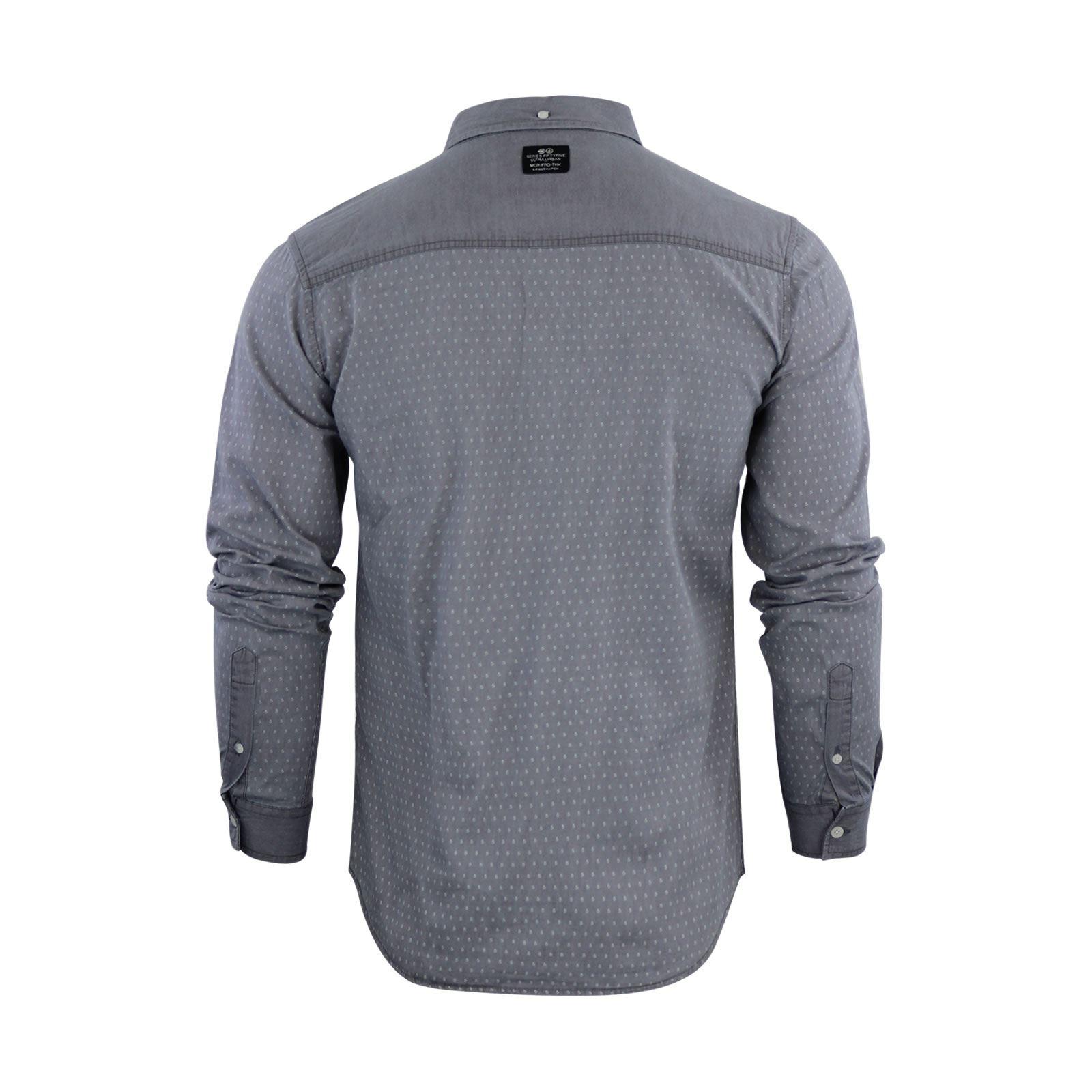 Crosshatch-Plantain-Mens-Denim-Shirt-Cotton-Long-Sleeve-Collared-Casual-Top