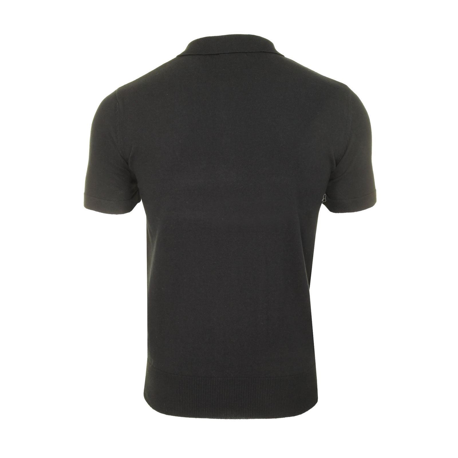 Mens-Knitted-Polo-Brave-Soul-Columbus-Collared-Short-Sleeve-Jumper-T-Shirt thumbnail 5